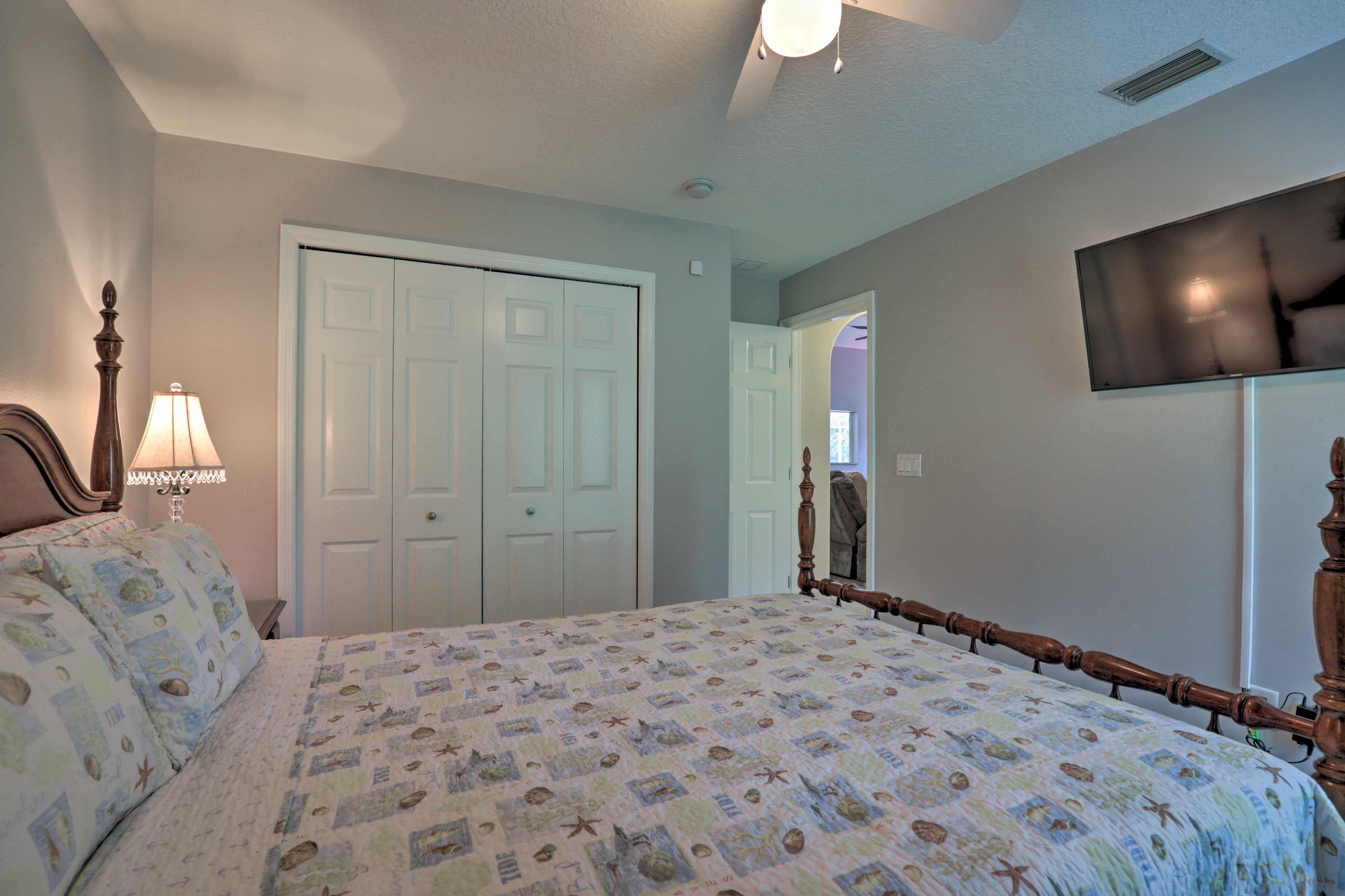 Wake up to plenty of natural sunlight in this room.