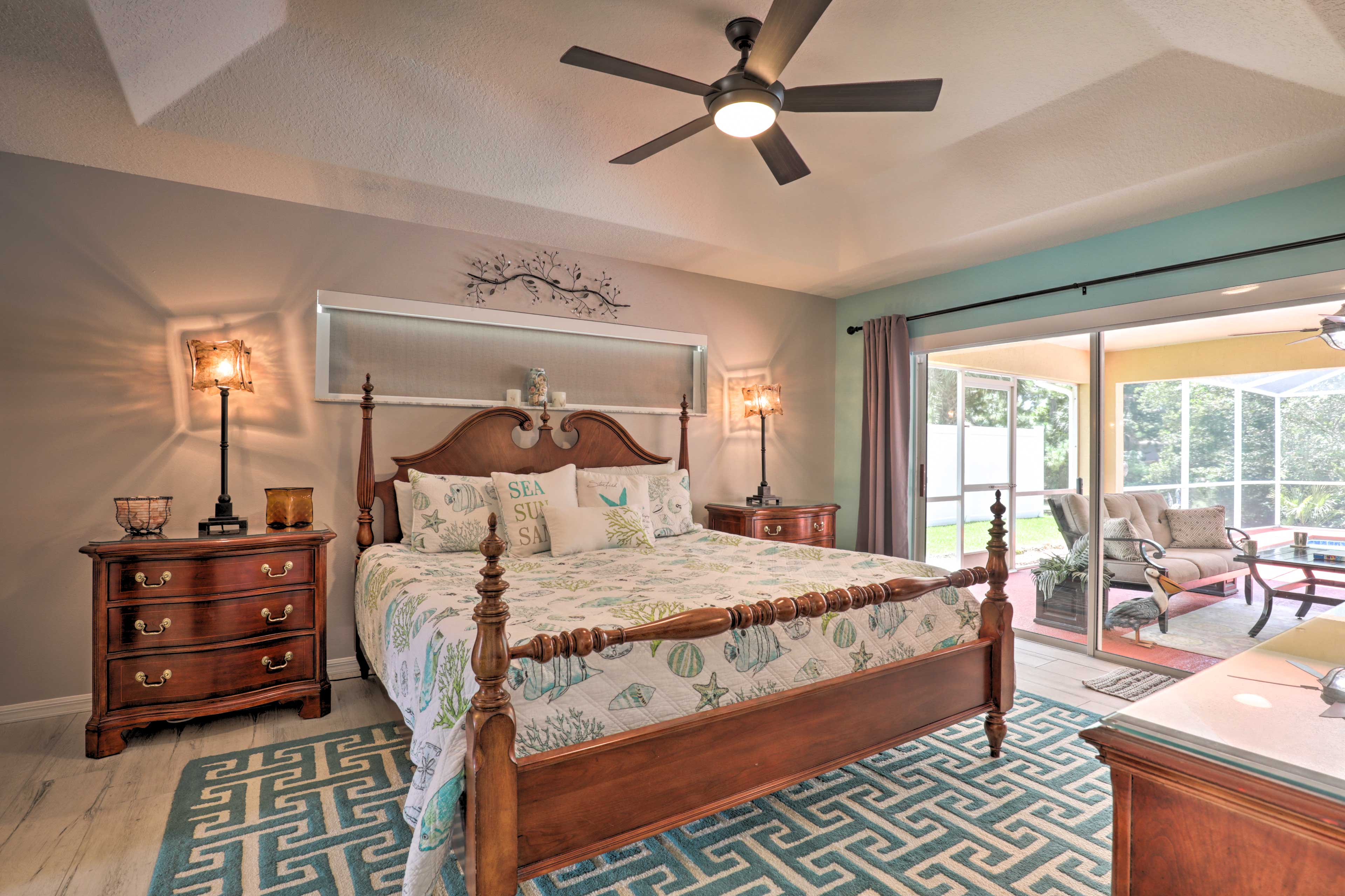 Sprawl out in the master bedroom's king-sized bed.