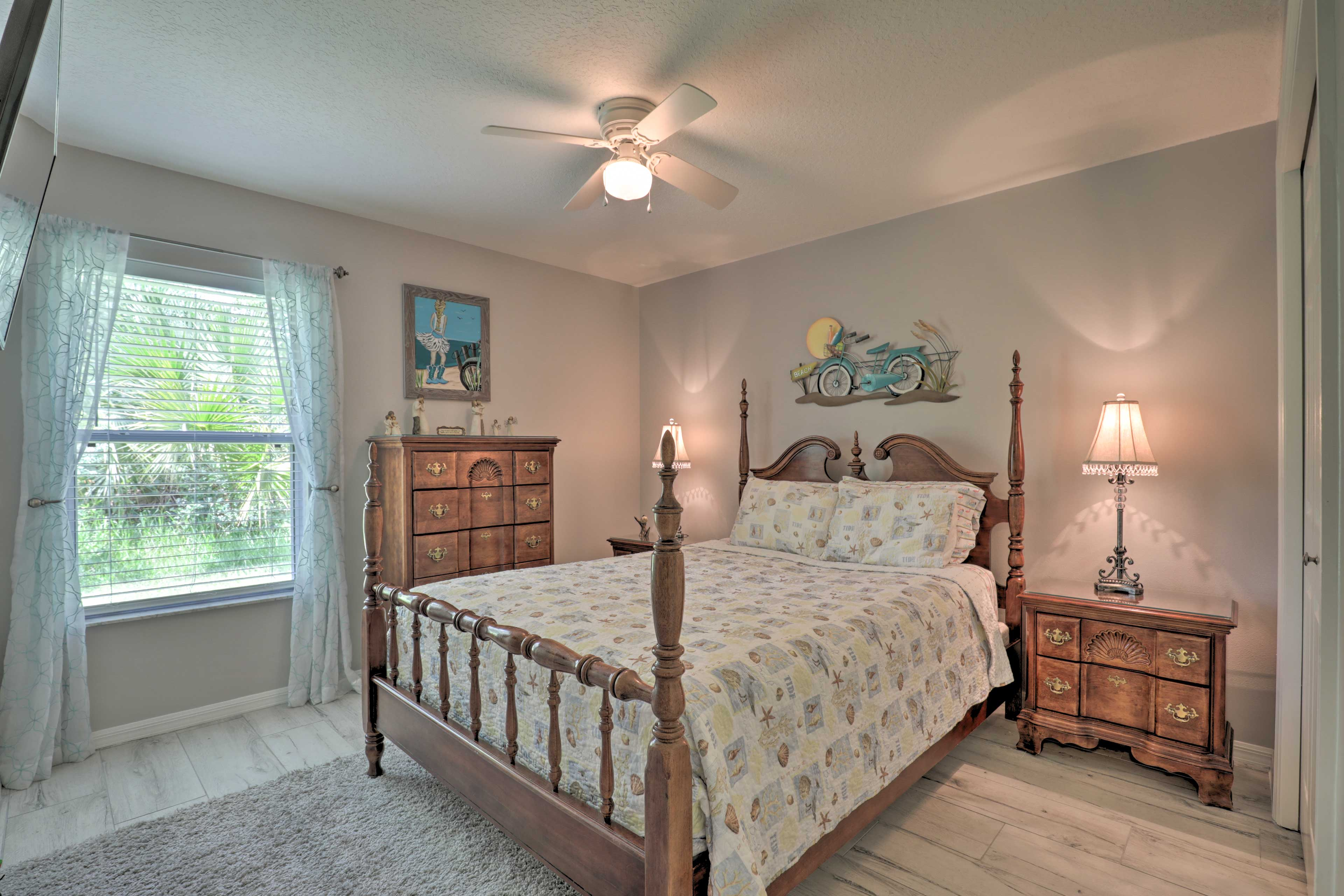 The third bedroom boasts a queen bed.