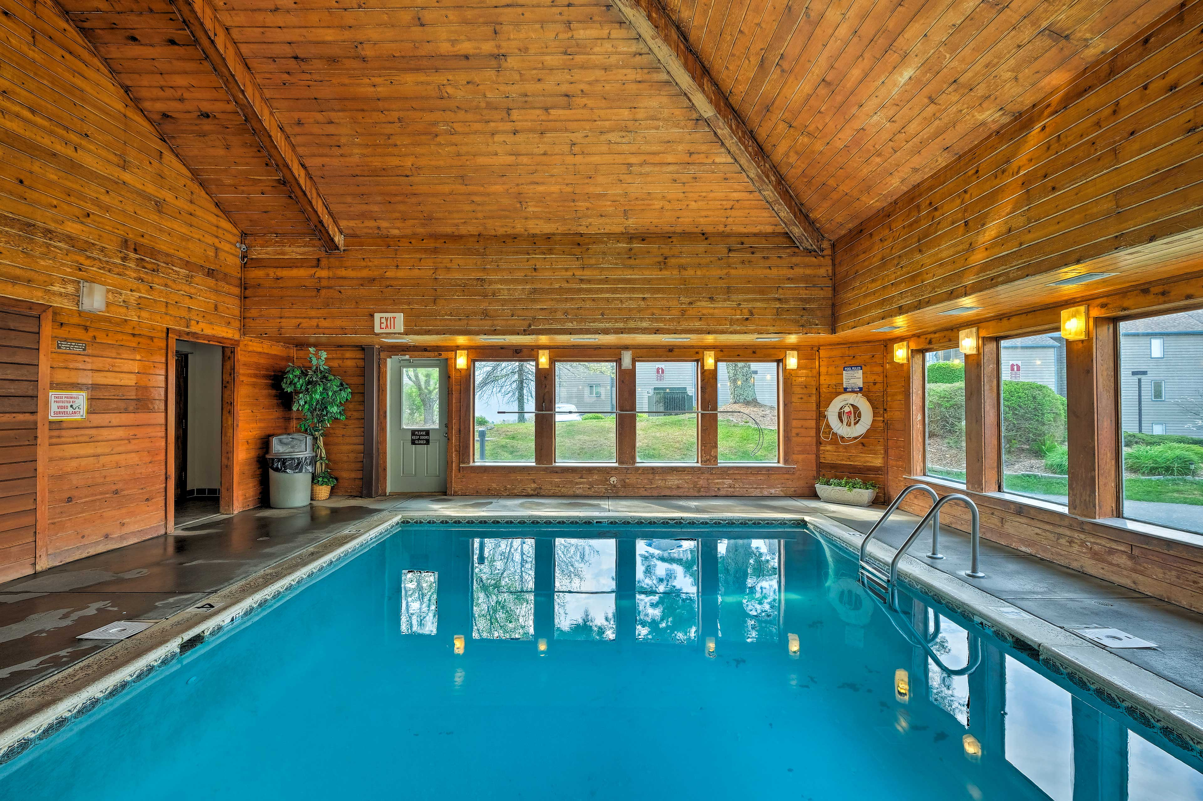 Community amenities include this stunning pool.