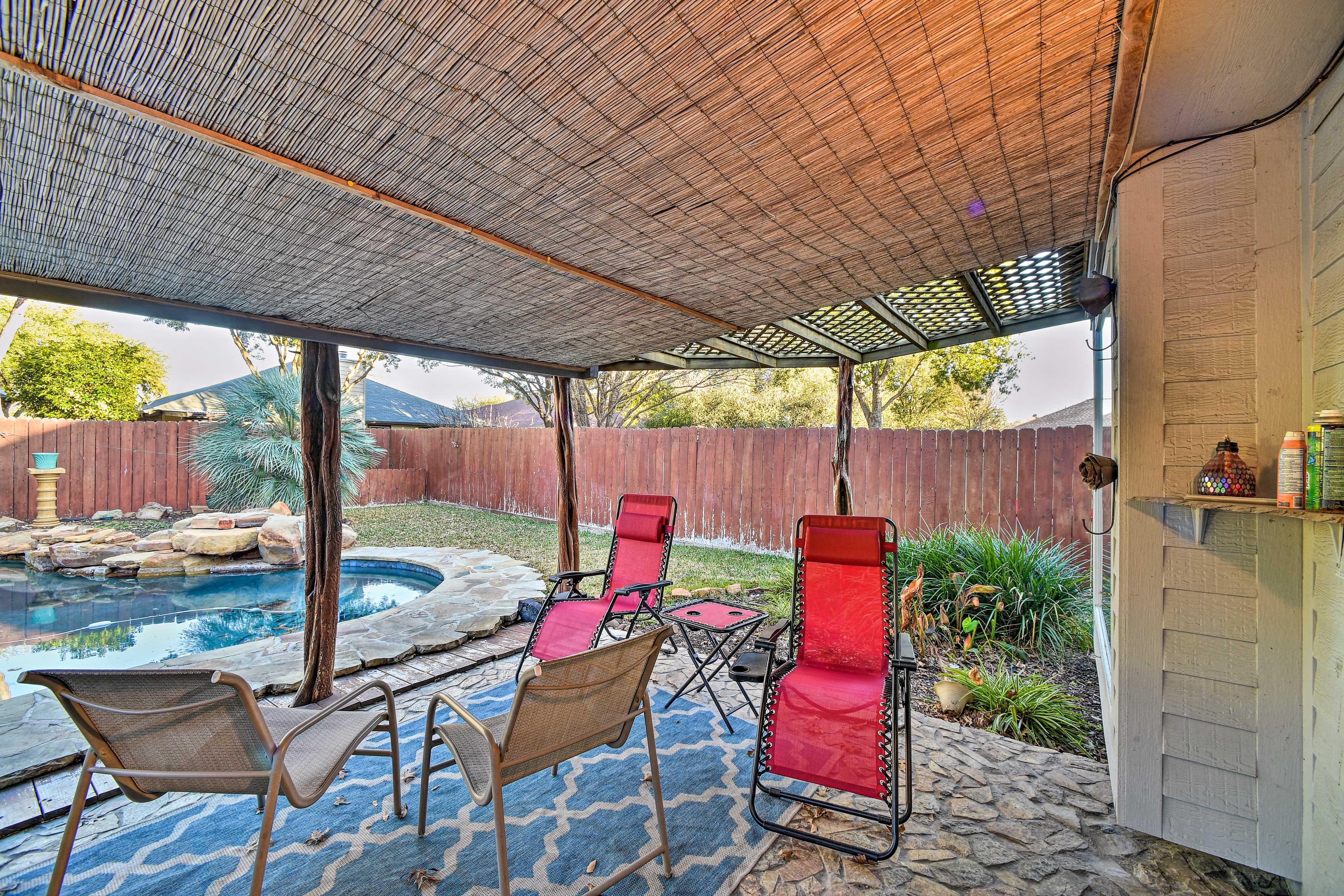 Private Covered Patio | Patio Furniture