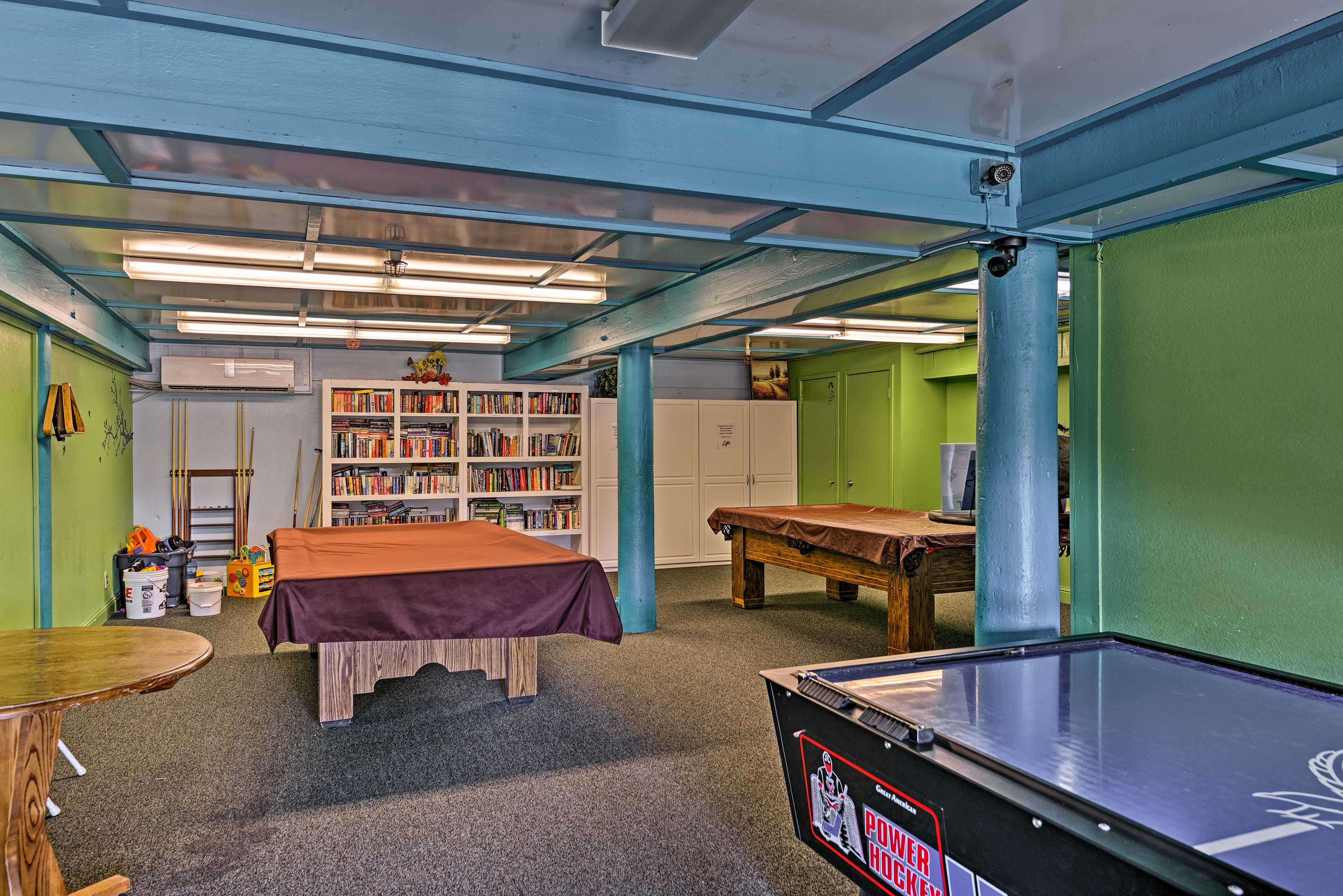 Kids will love playing in the community game room.