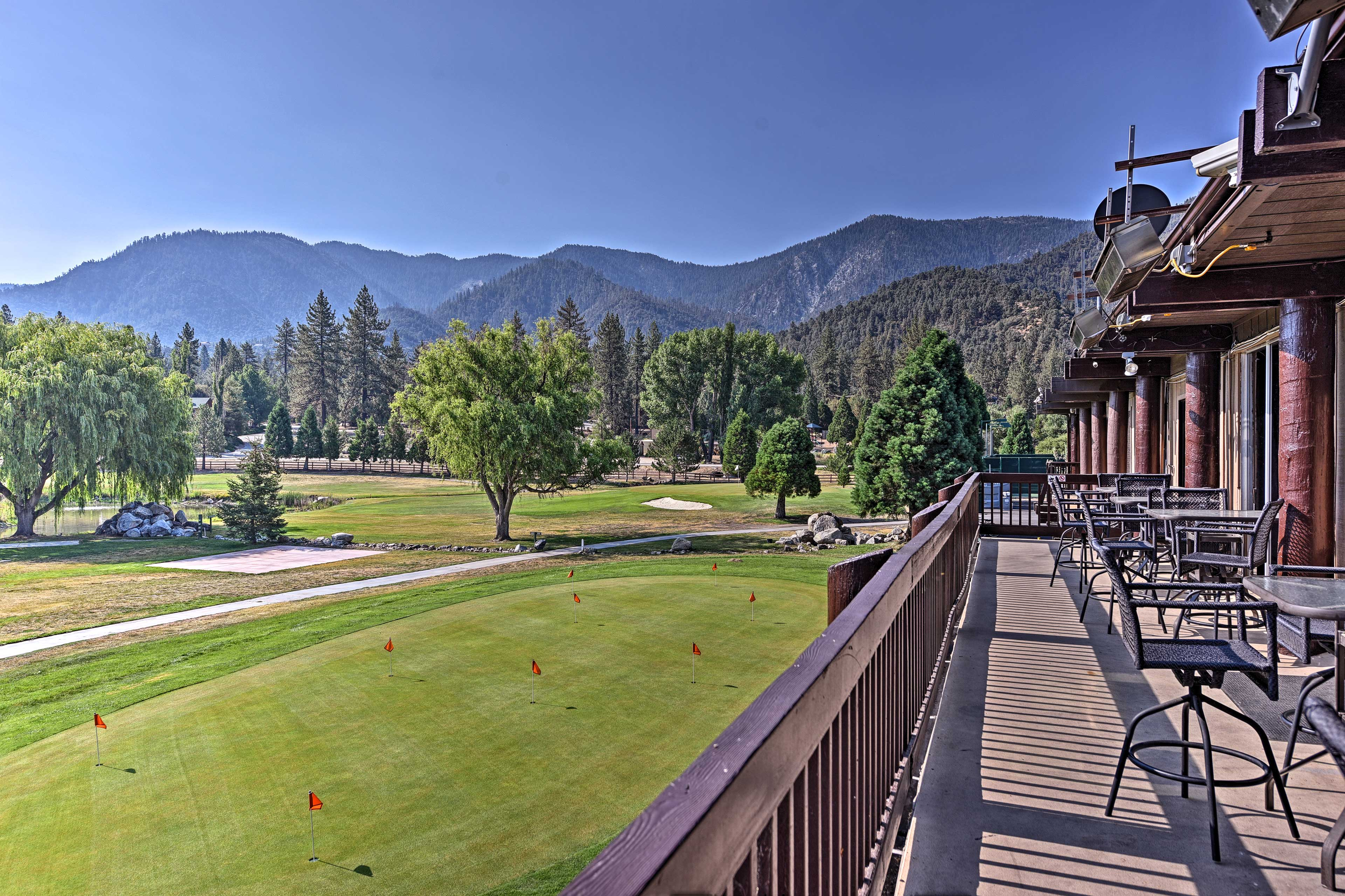 The community's golf course offers perfect views of the surrounding mountains.