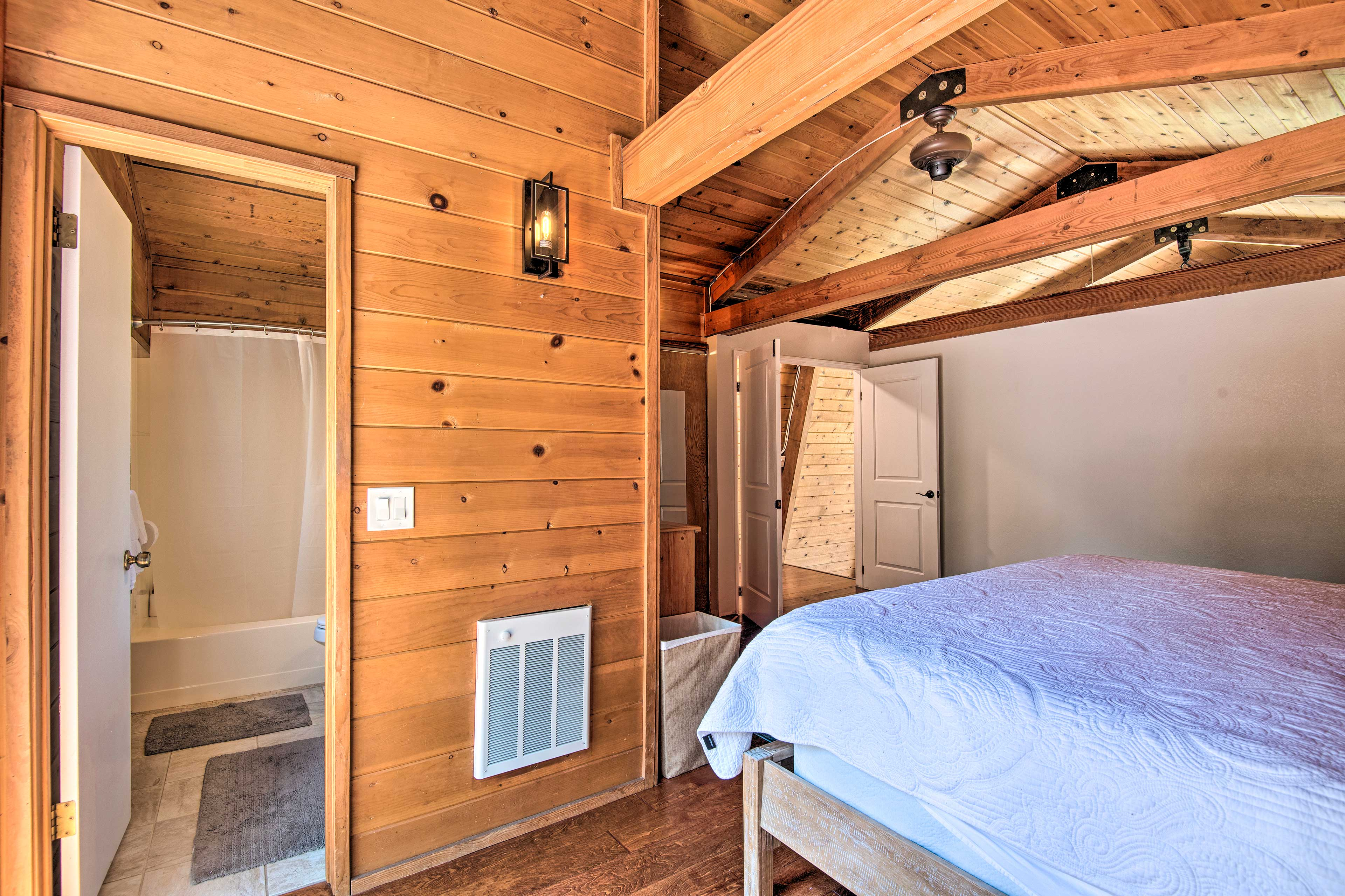 The en-suite bath adds extra convenience to your stay.