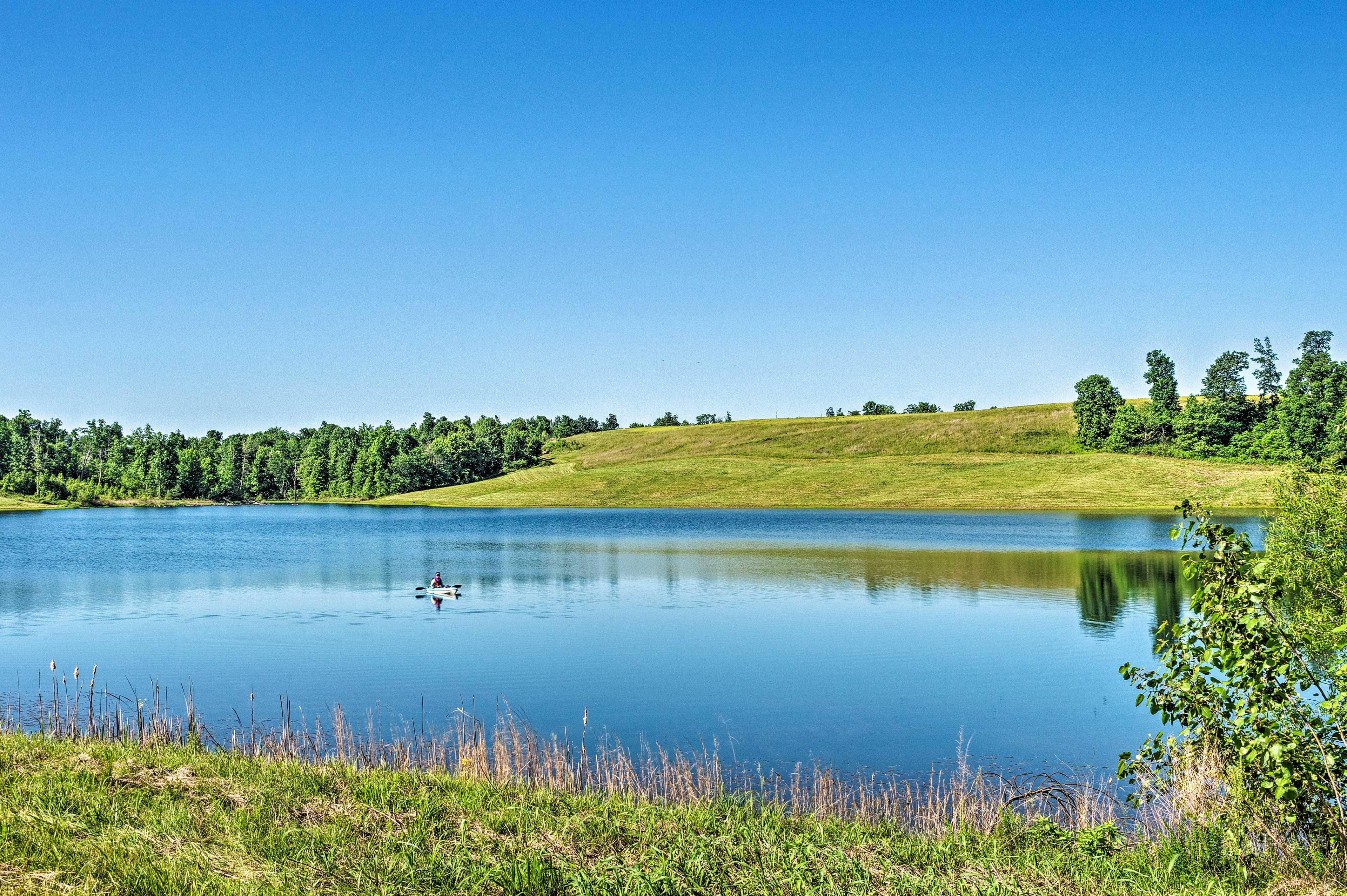 Spend the day kayaking on the community lake locates 0.5 miles from the cabin.