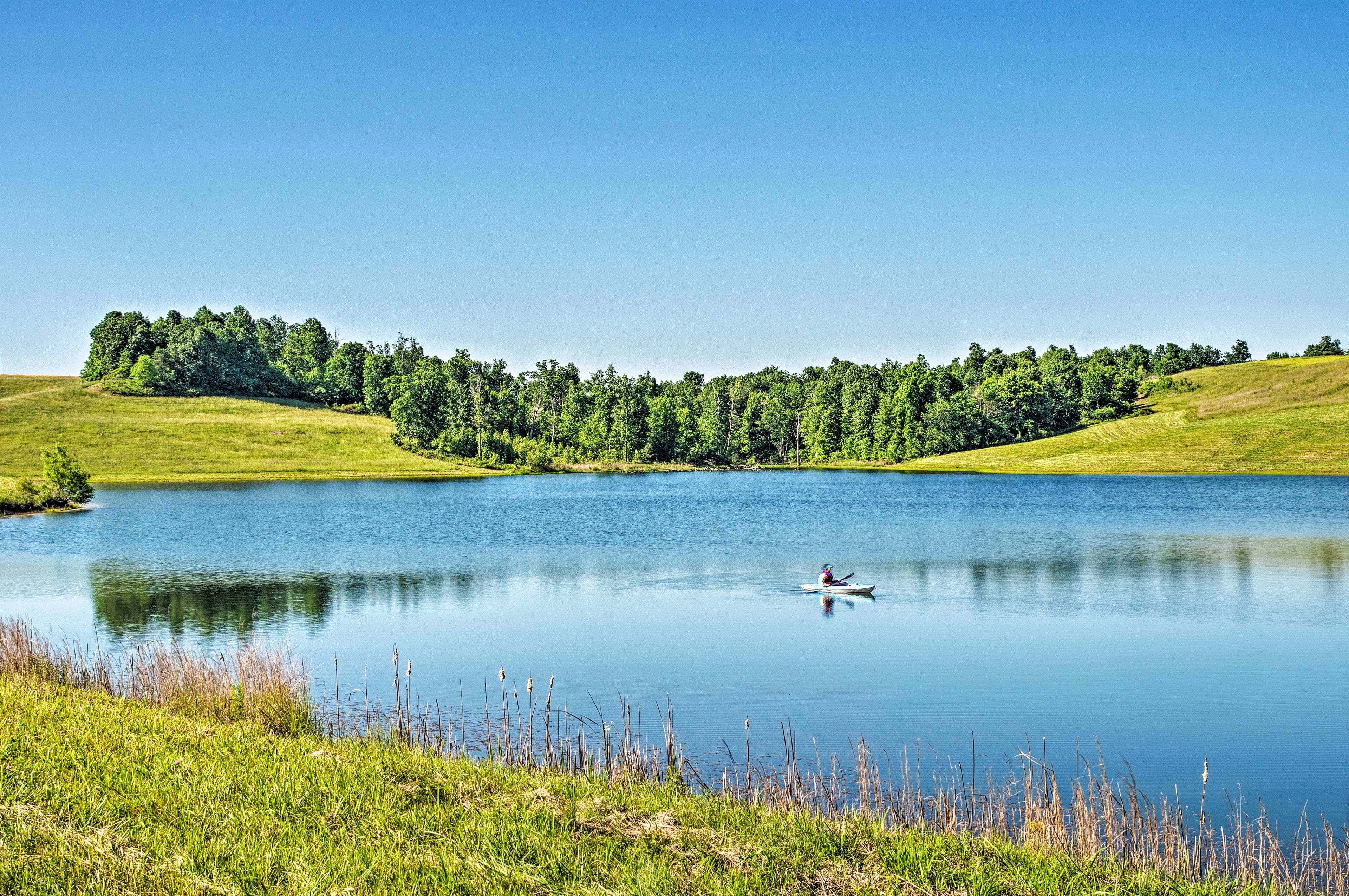 Spend relaxing afternoons paddling on the lake.
