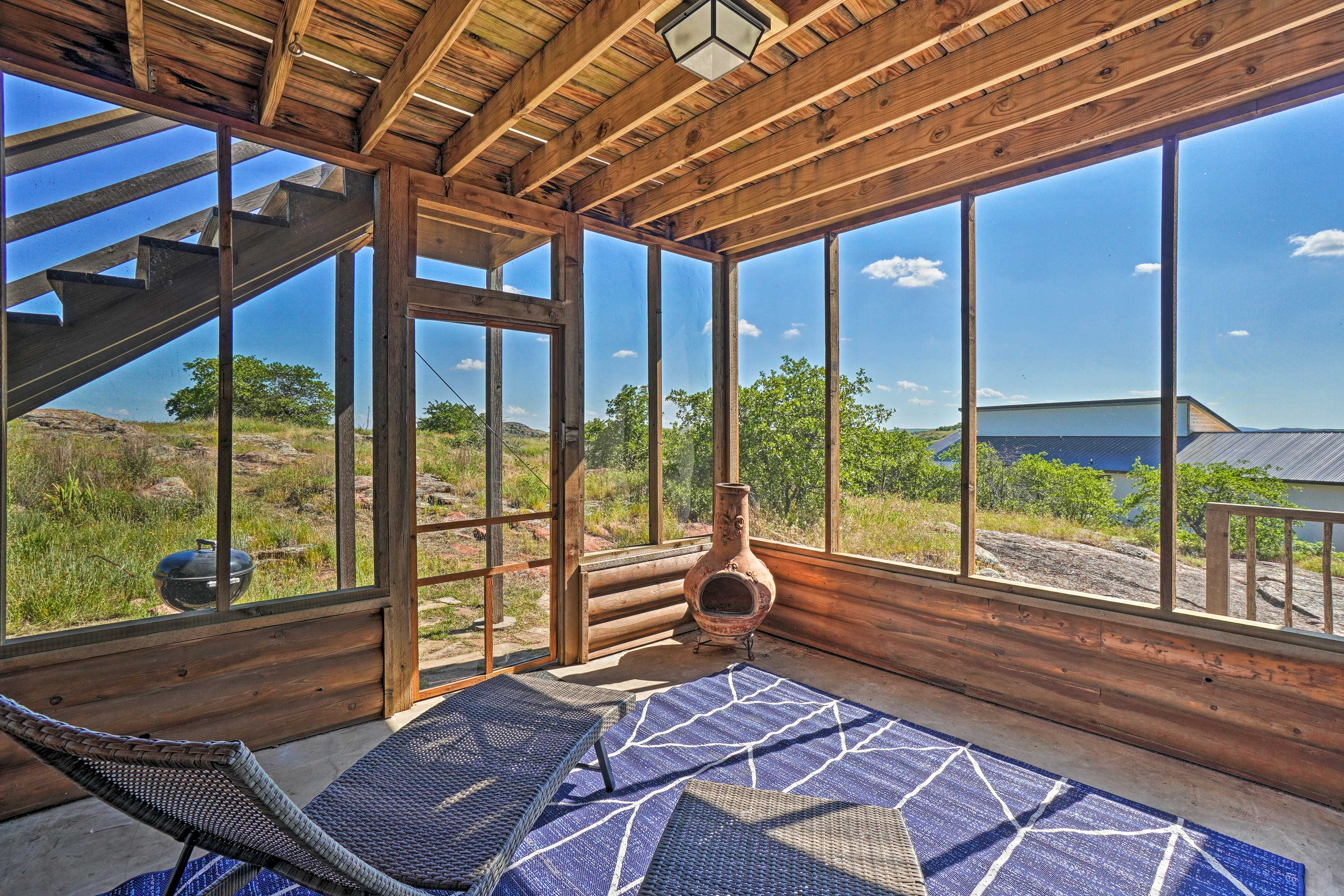 Sip your morning coffee in the sunroom.