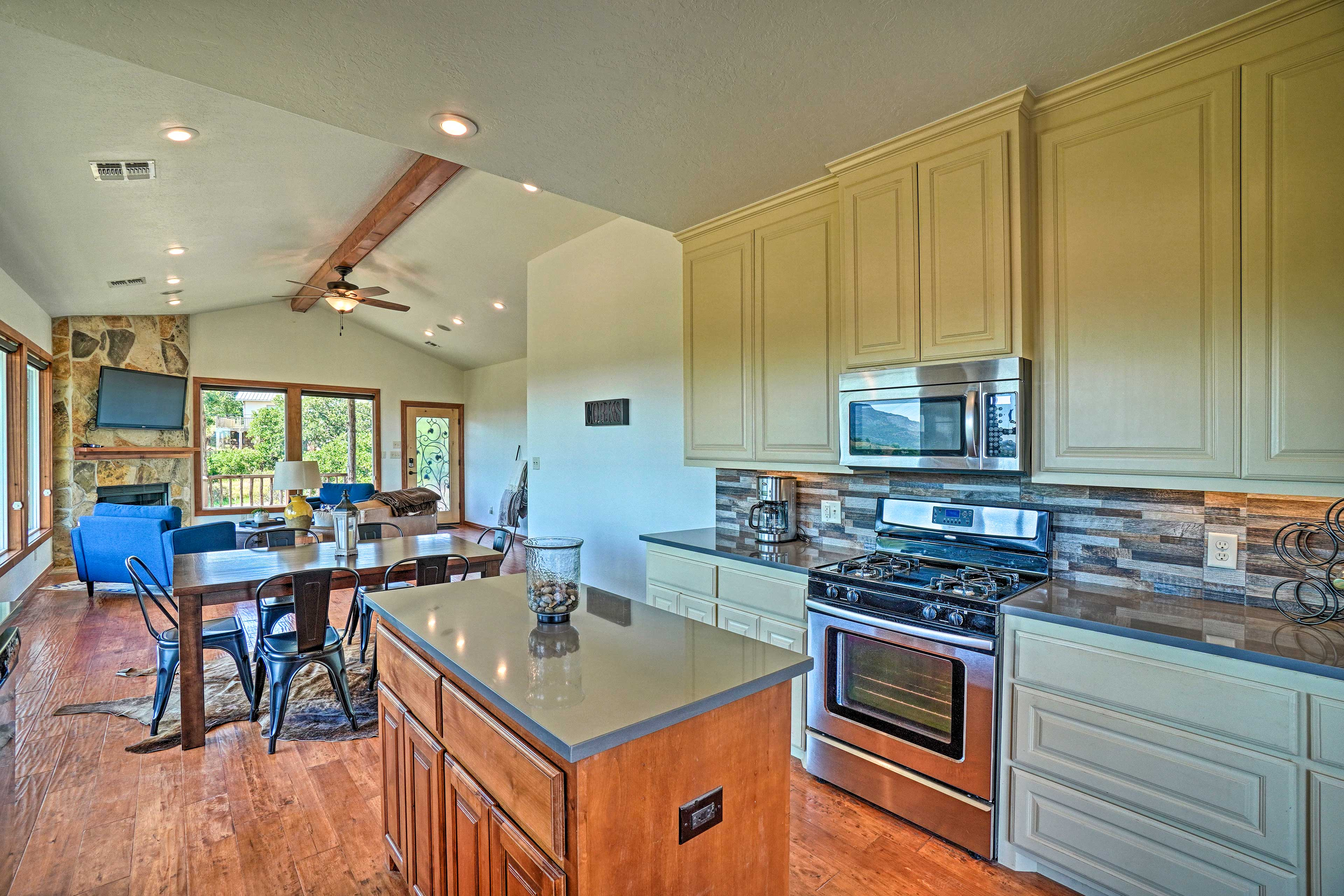 Cook up your southern favorites in the fully equipped kitchen.