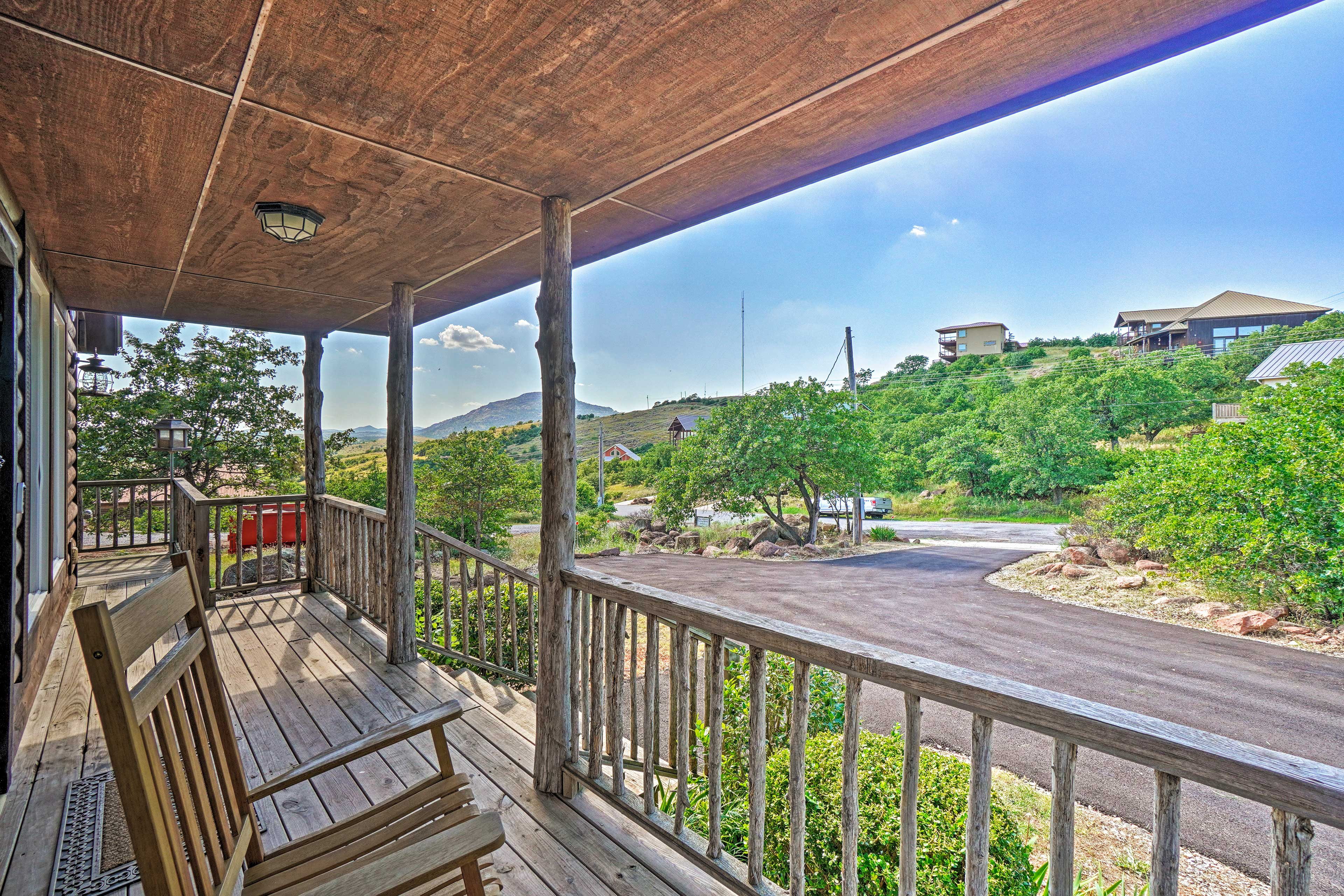 The wraparound porch is hangout worthy.