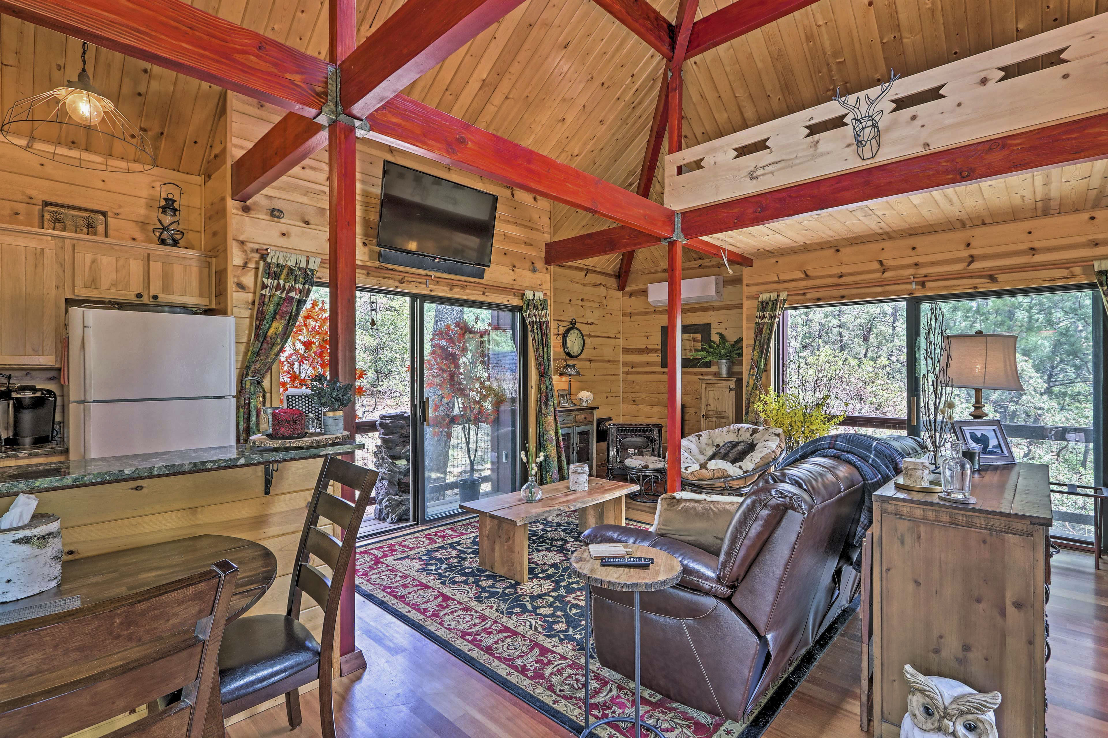 Interior Space / Open Layout / Air Conditioning / Wood-Burning Stove