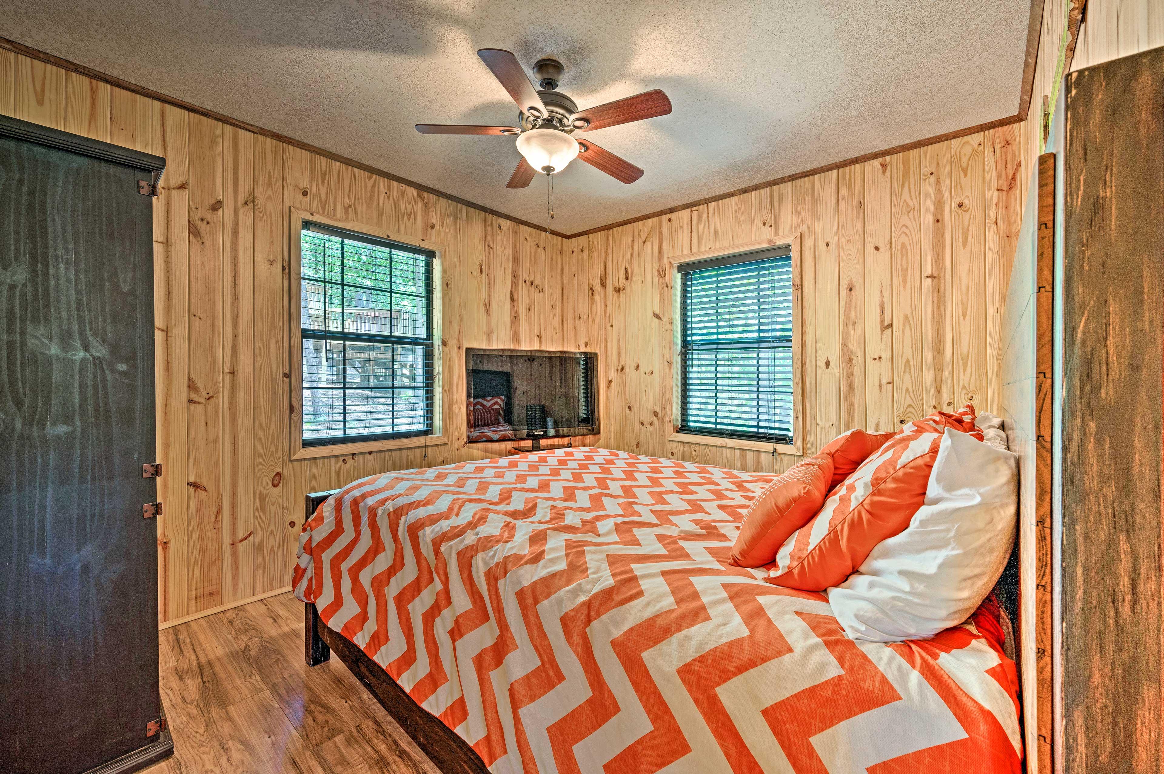 Both bedrooms feature queen beds.