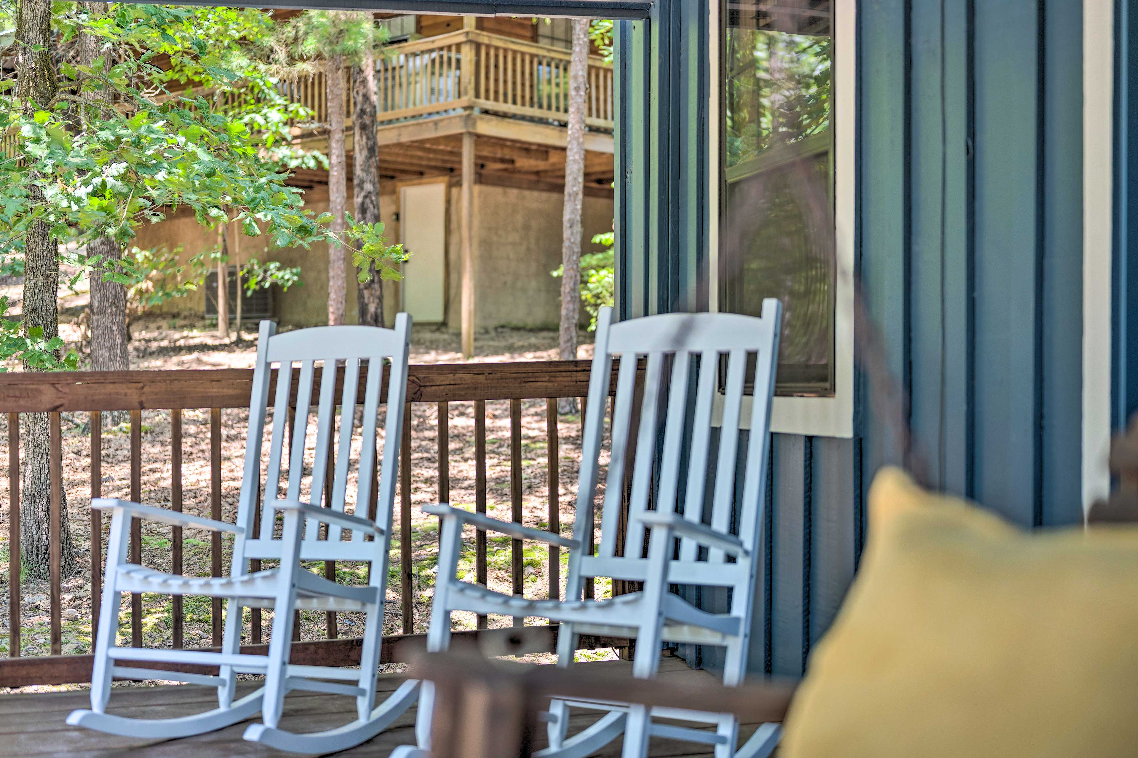 Rock your cares away on the porch!