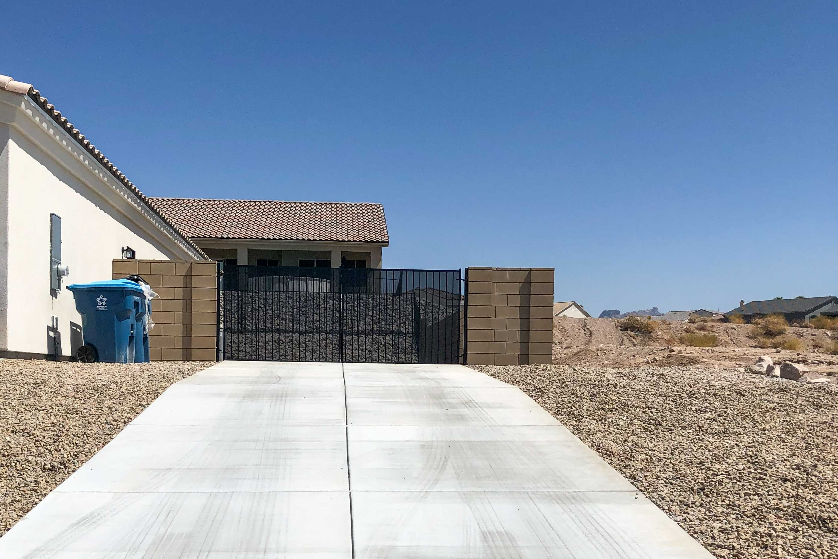 This home offers 2 driveways for parking vehicles.