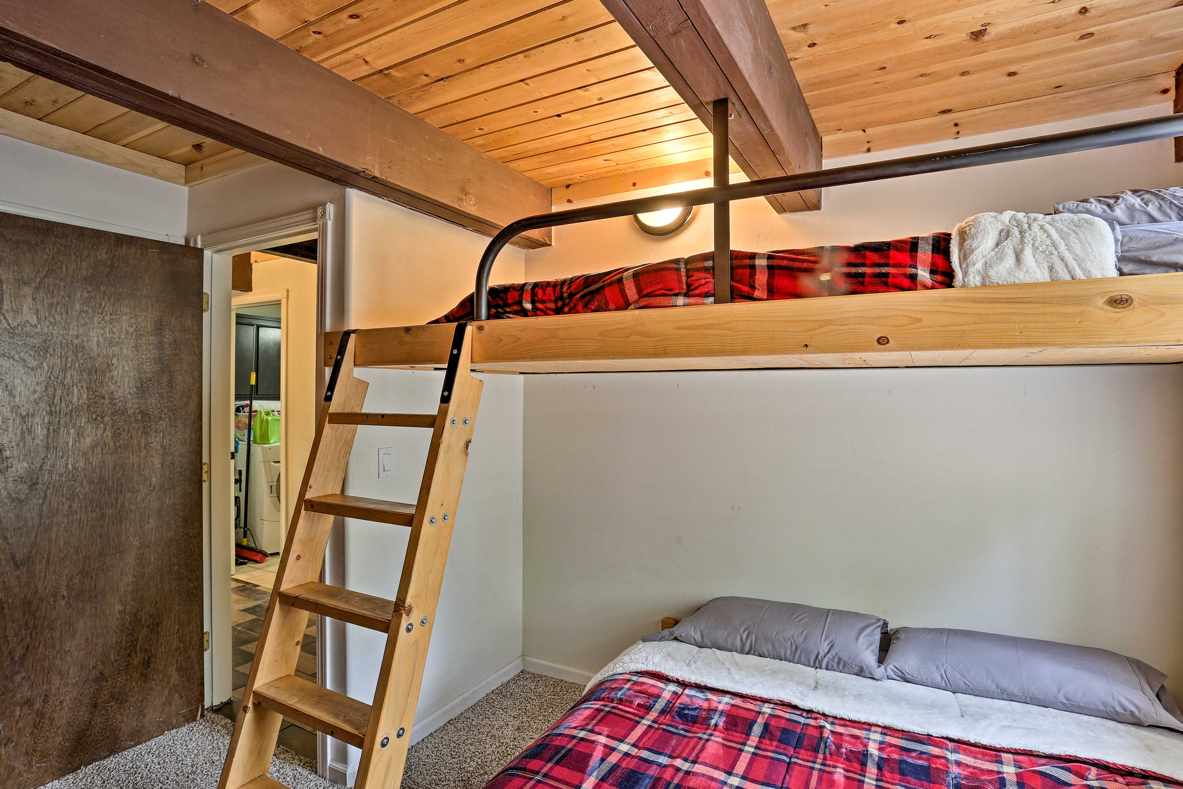 The third bedroom has a twin/queen bunk bed.