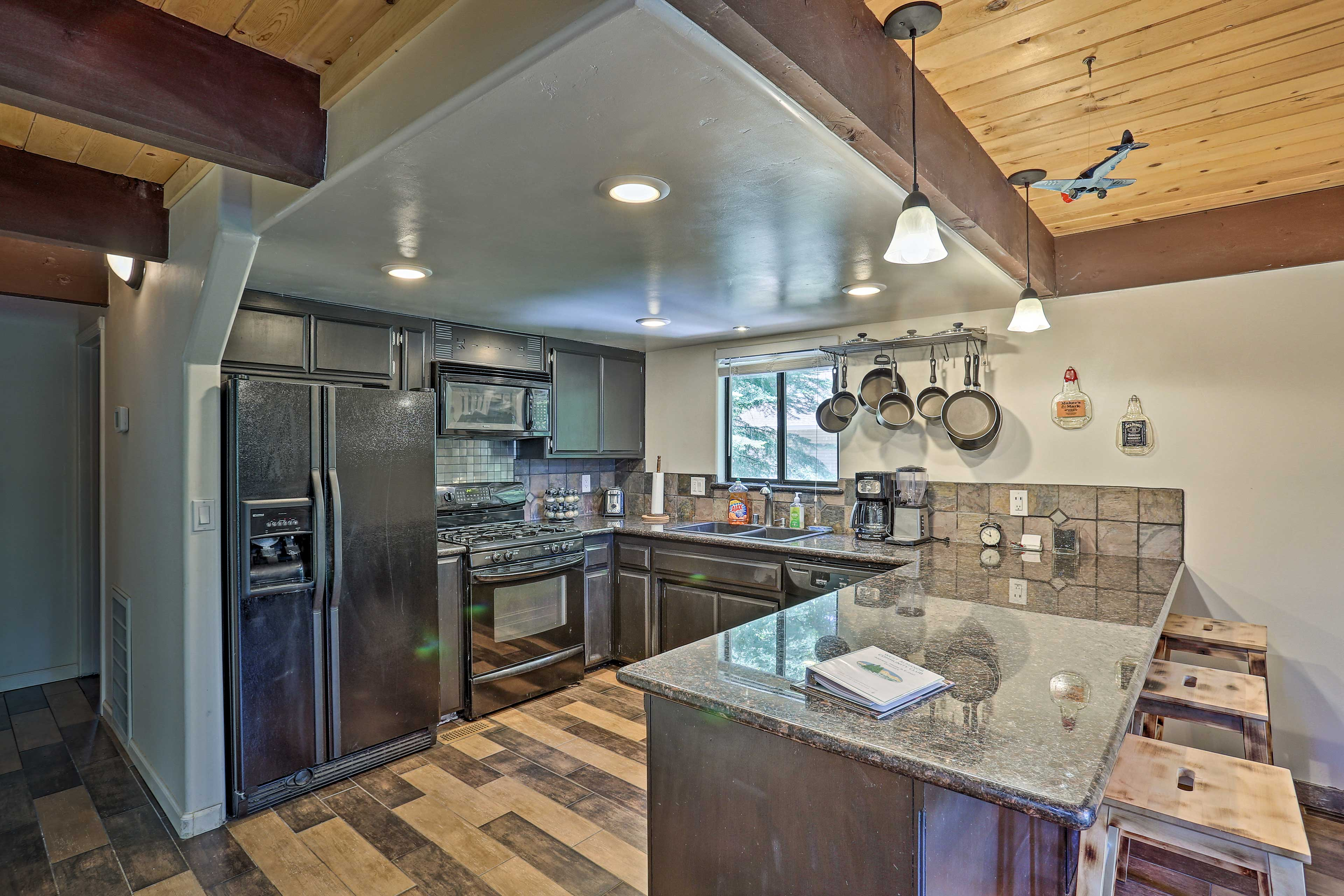 Use this vacation rental's fully equipped kitchen to make dinner!
