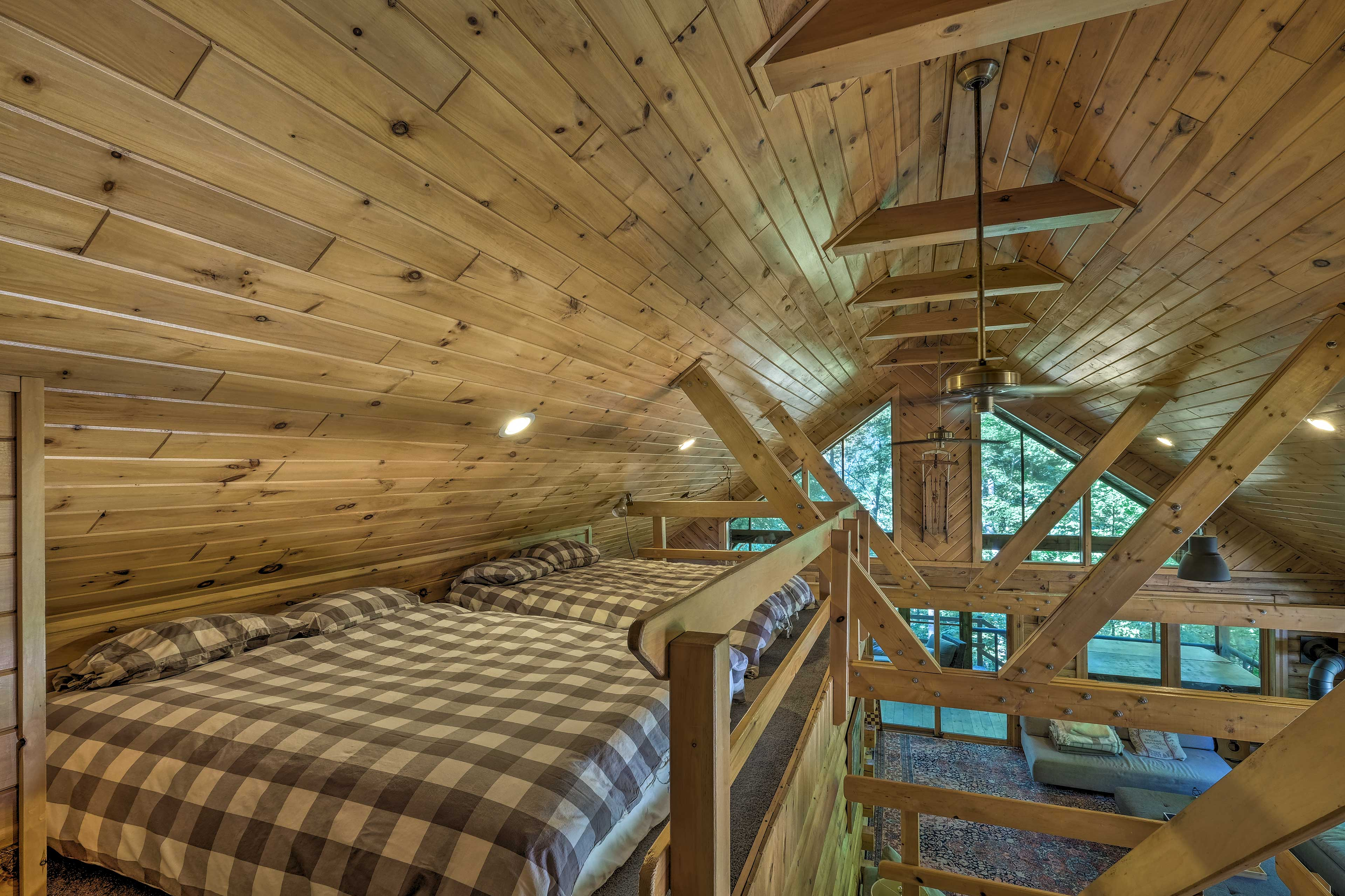 The loft also has additional sleeping space.
