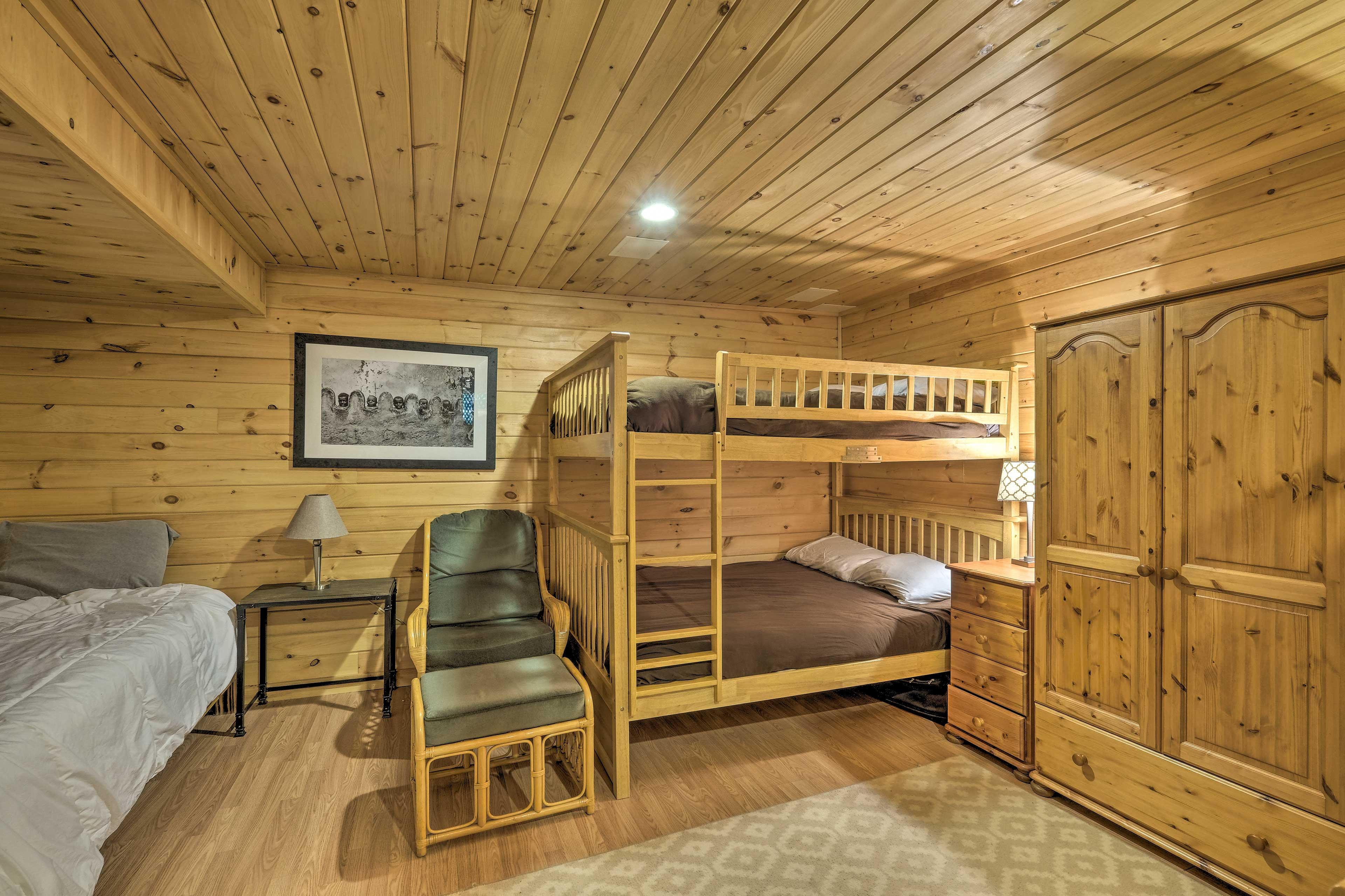Let the kiddos bunk in here so they can talk and laugh before falling asleep.