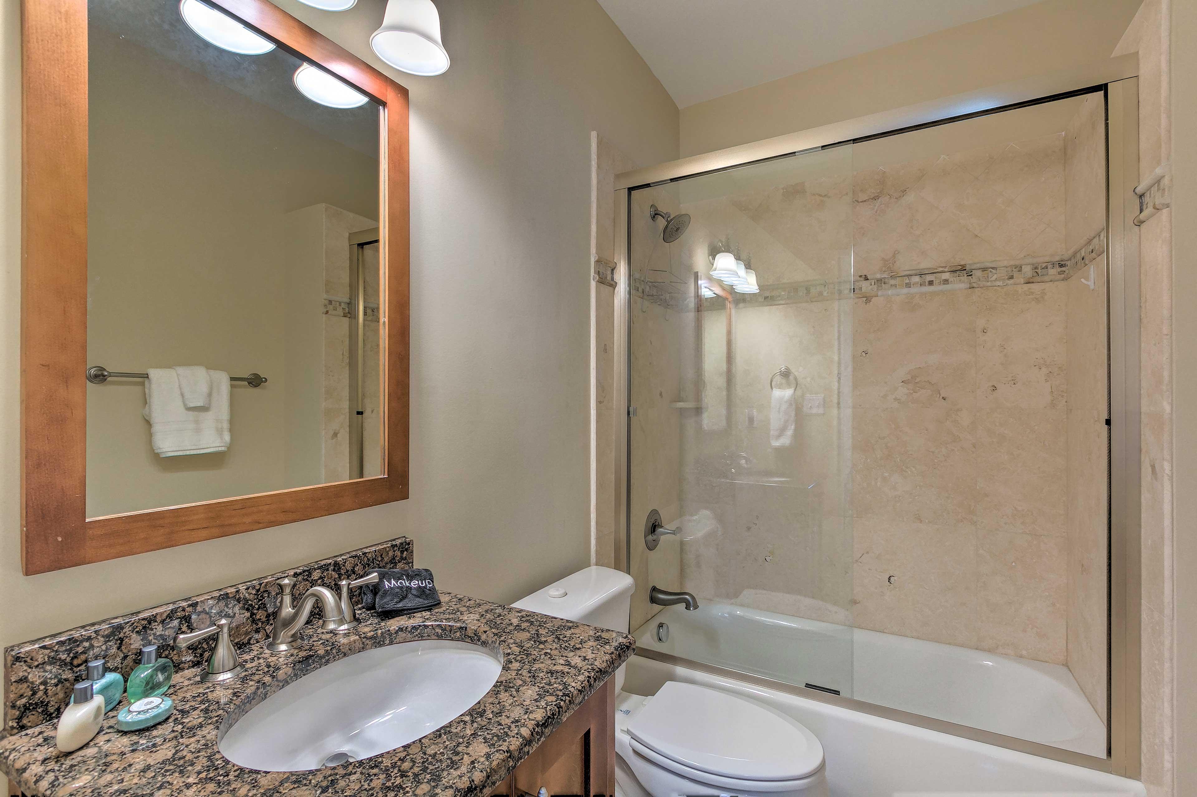 Rinse away the day in the en-suite bathroom.