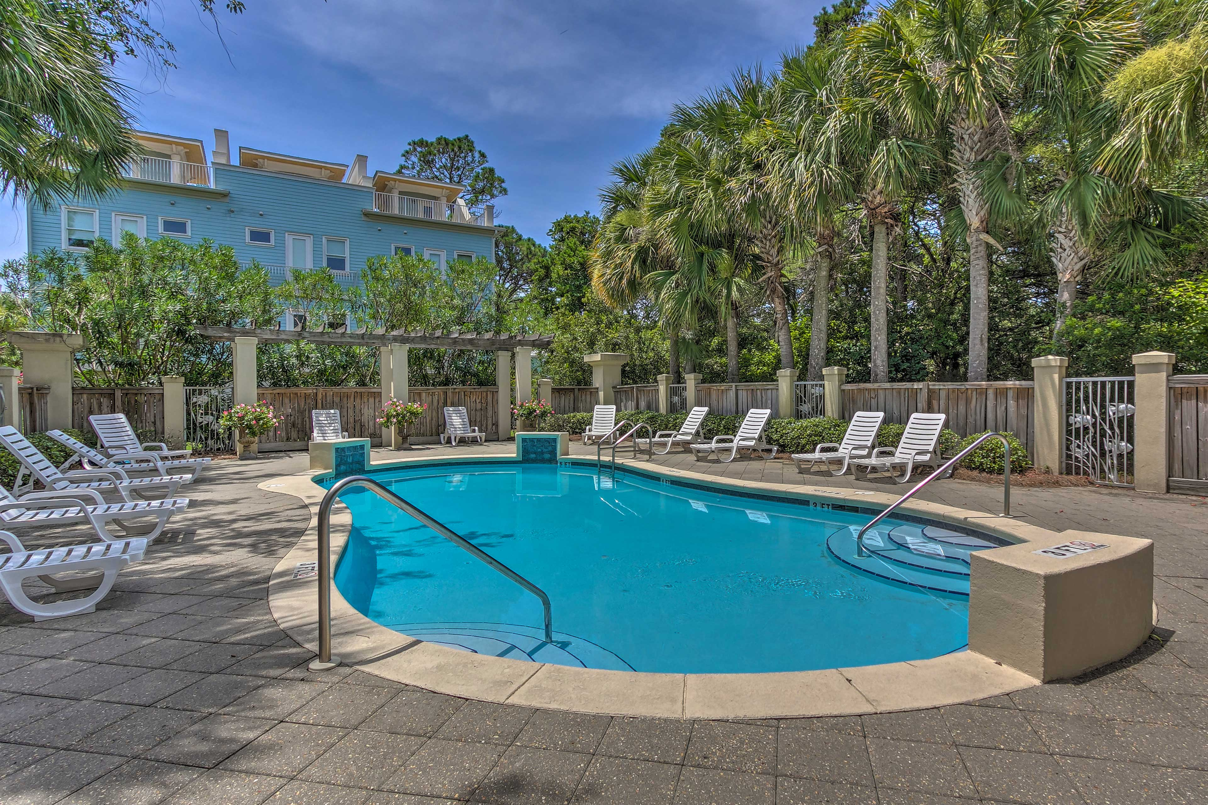 Relax at the community pool when you're not at the beach!