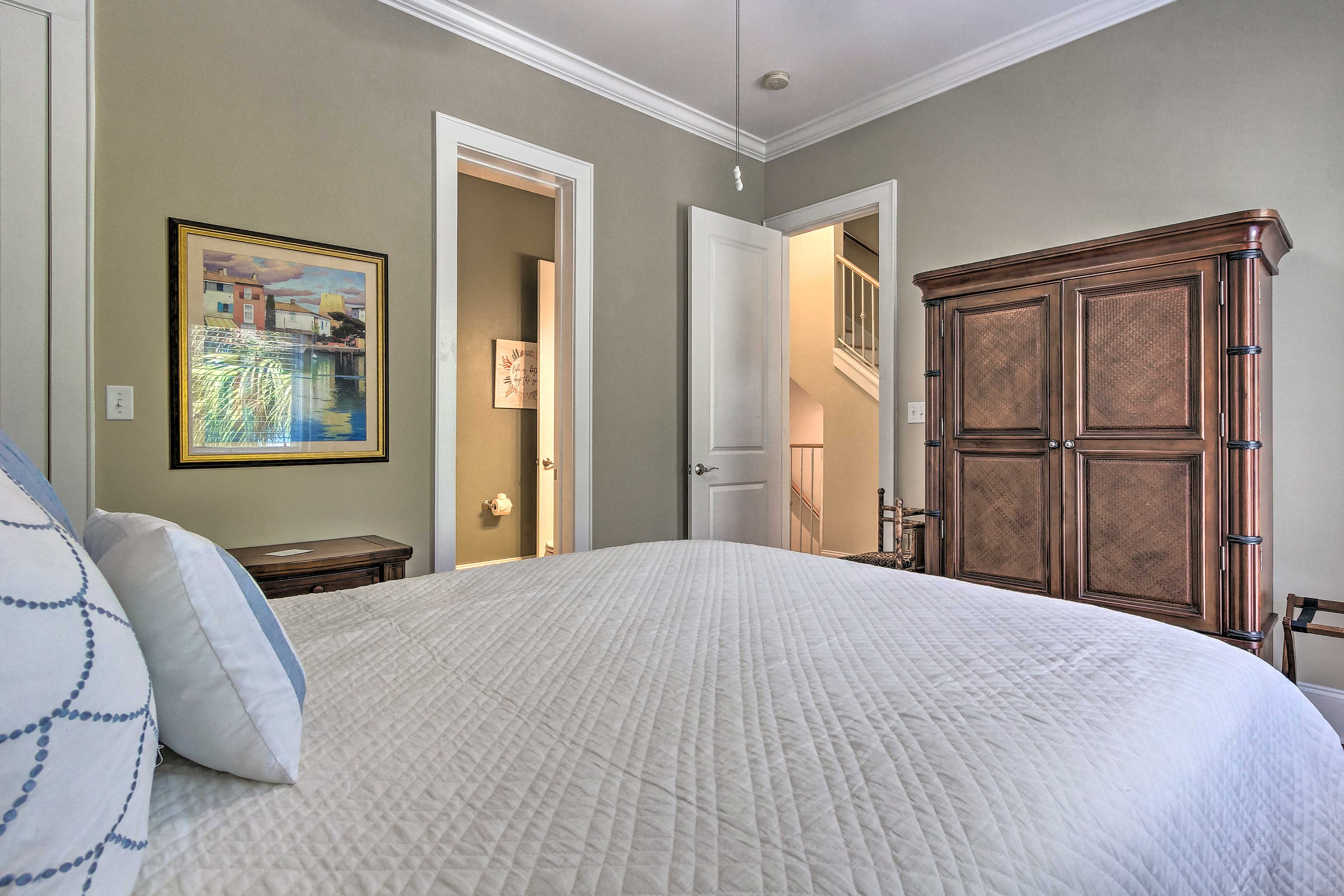 Enjoy plenty of privacy in each of these comfortable bedrooms.