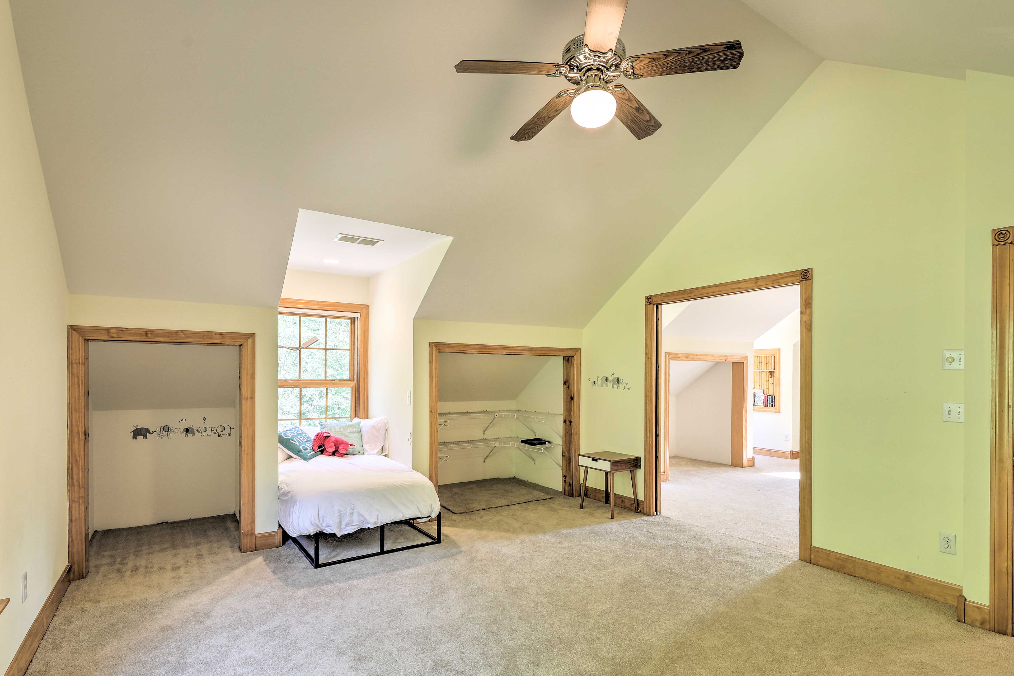 This spacious bedroom boasts 1 twin bed.