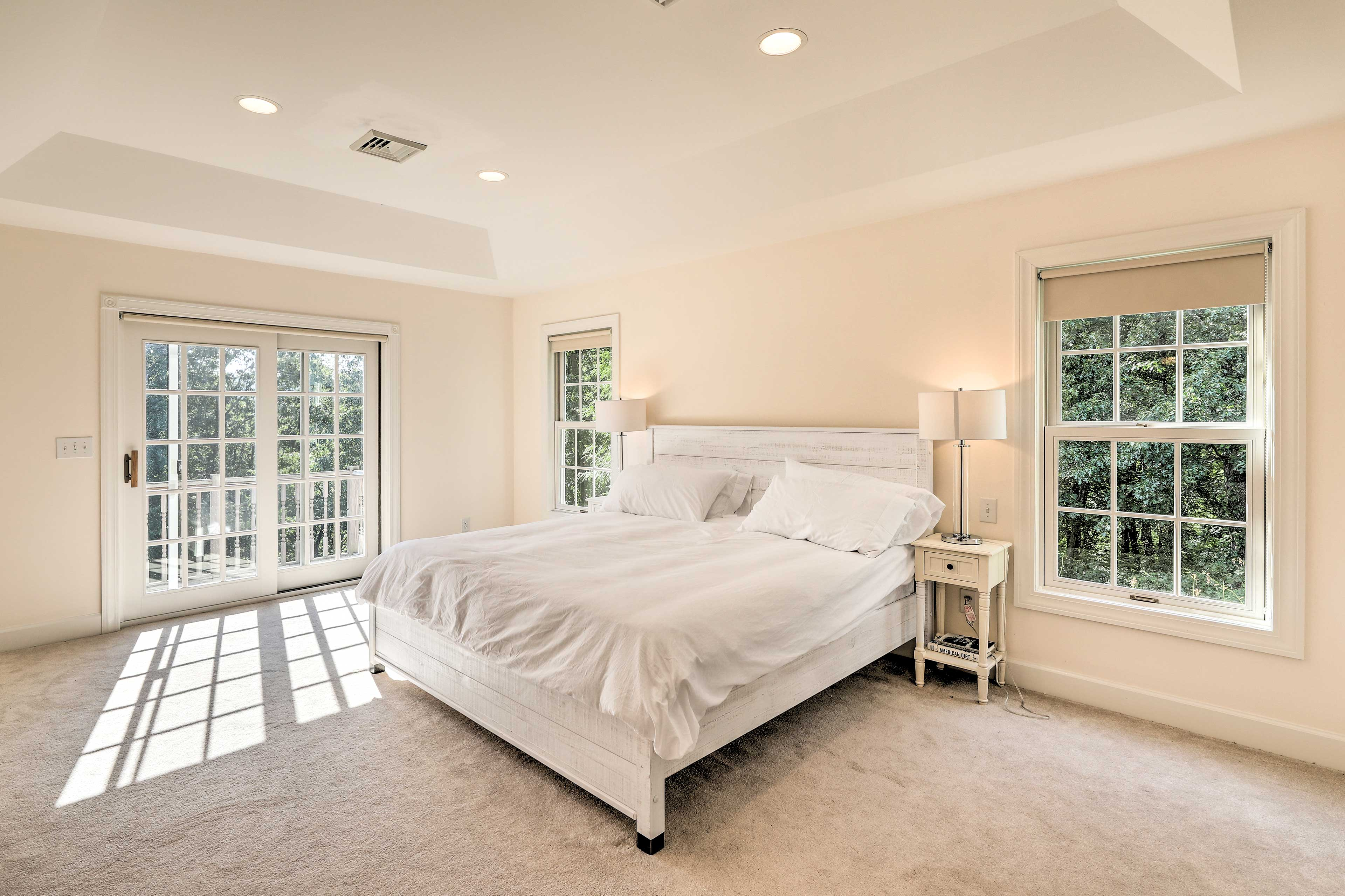 Wake up each morning to enjoy your wooded surroundings & private balcony.
