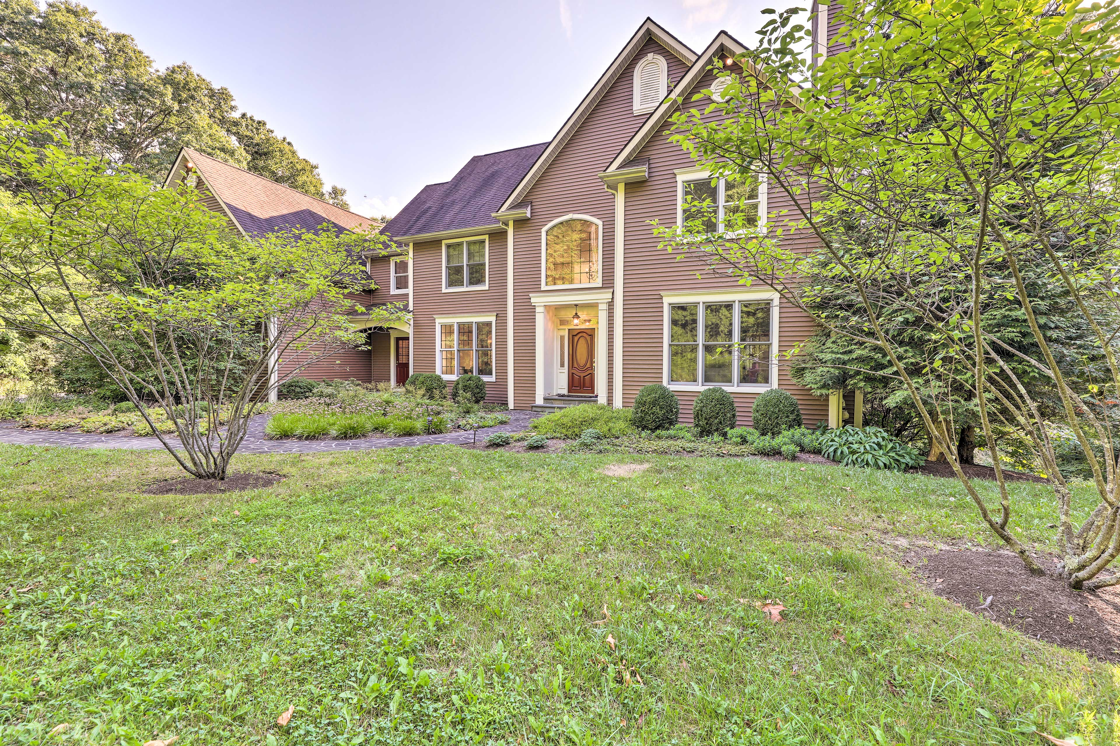 The property sits at the end of a secluded 0.2-mile long driveway.