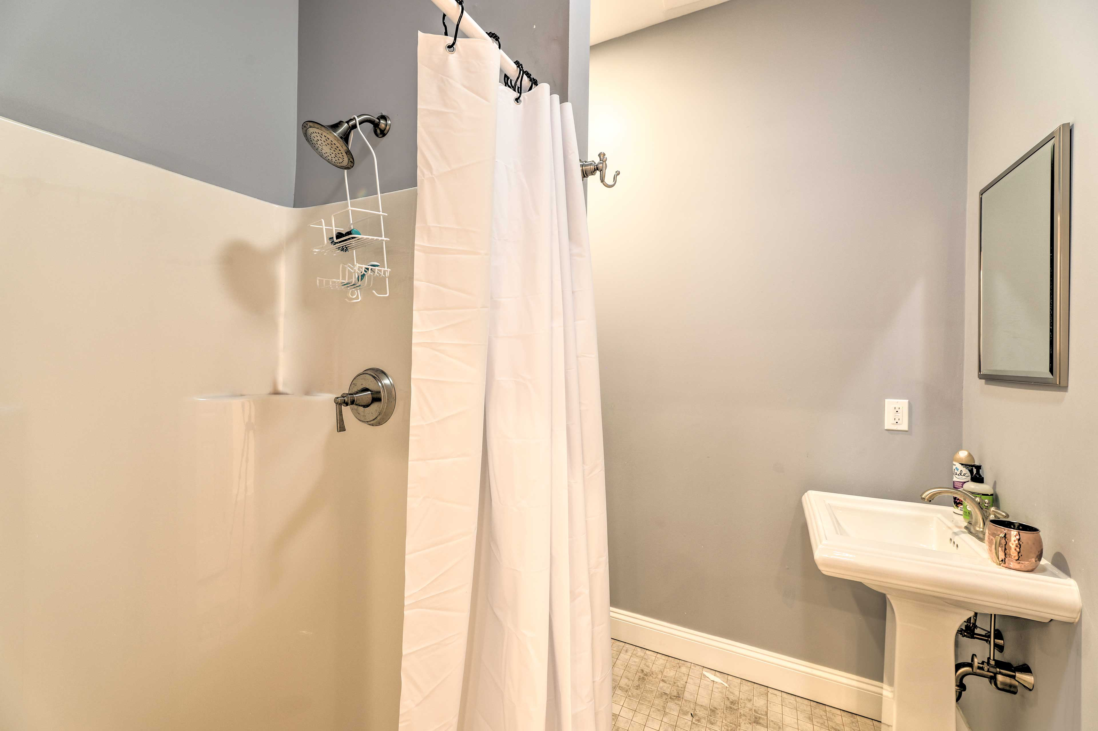 With the home's many bathrooms, no one will have to wait to wash.