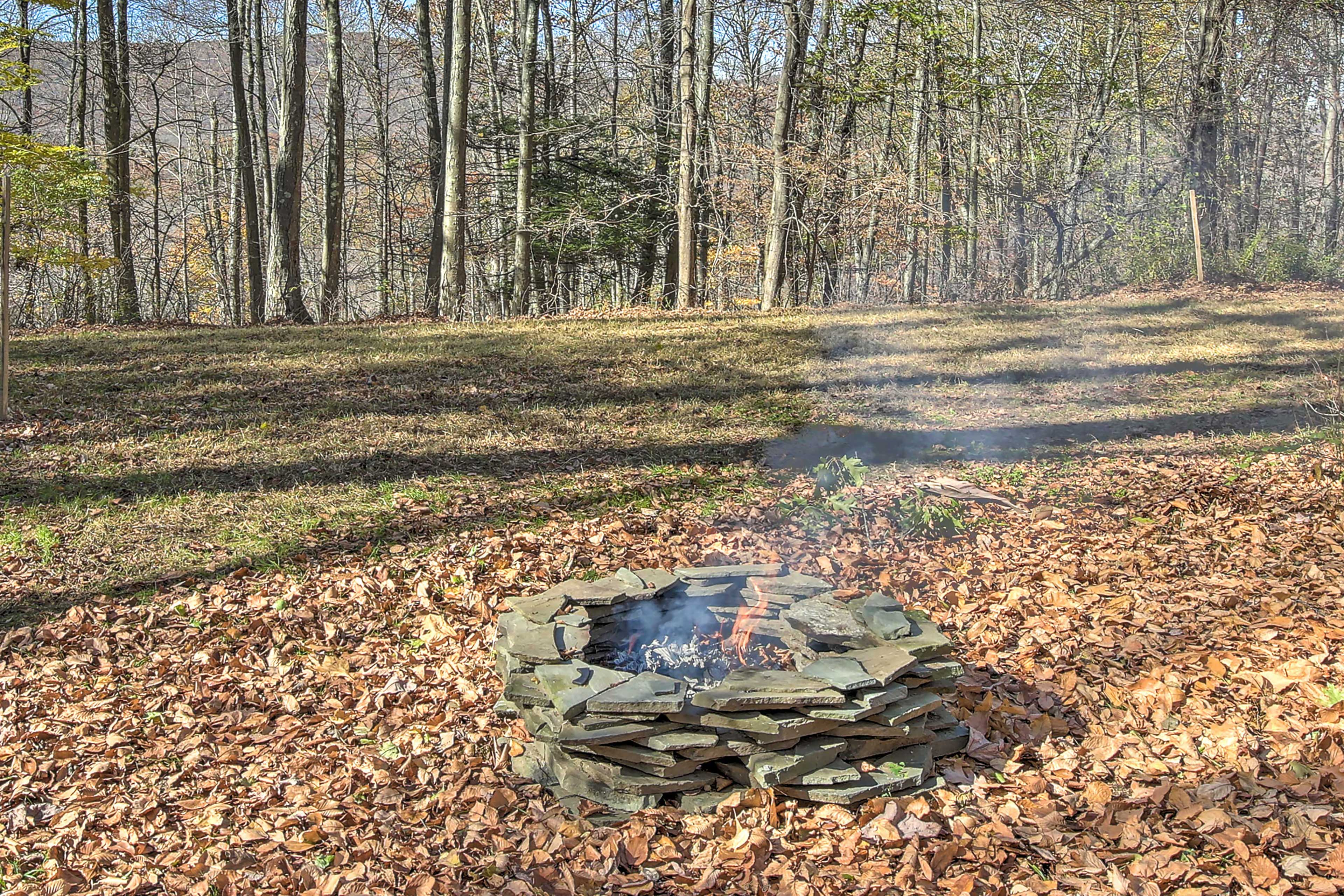 You'll love gathering around the fire.