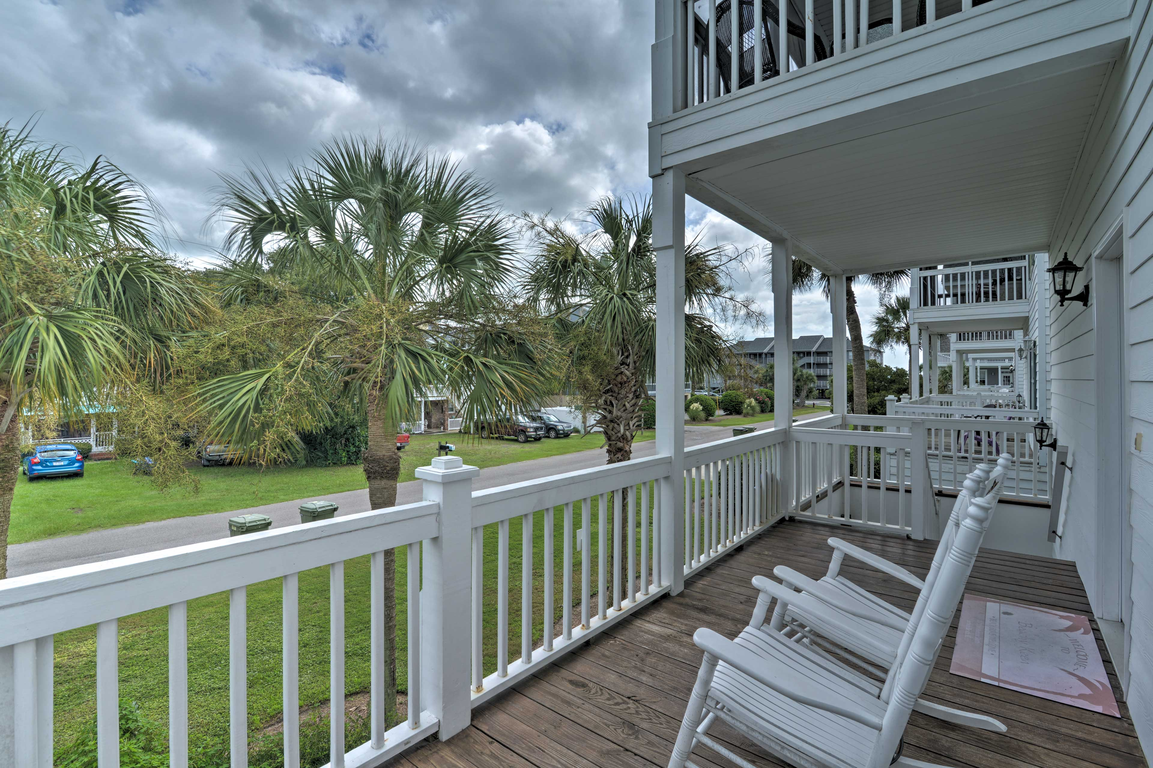 Grab your towel and head to the beach - just a block from this home.