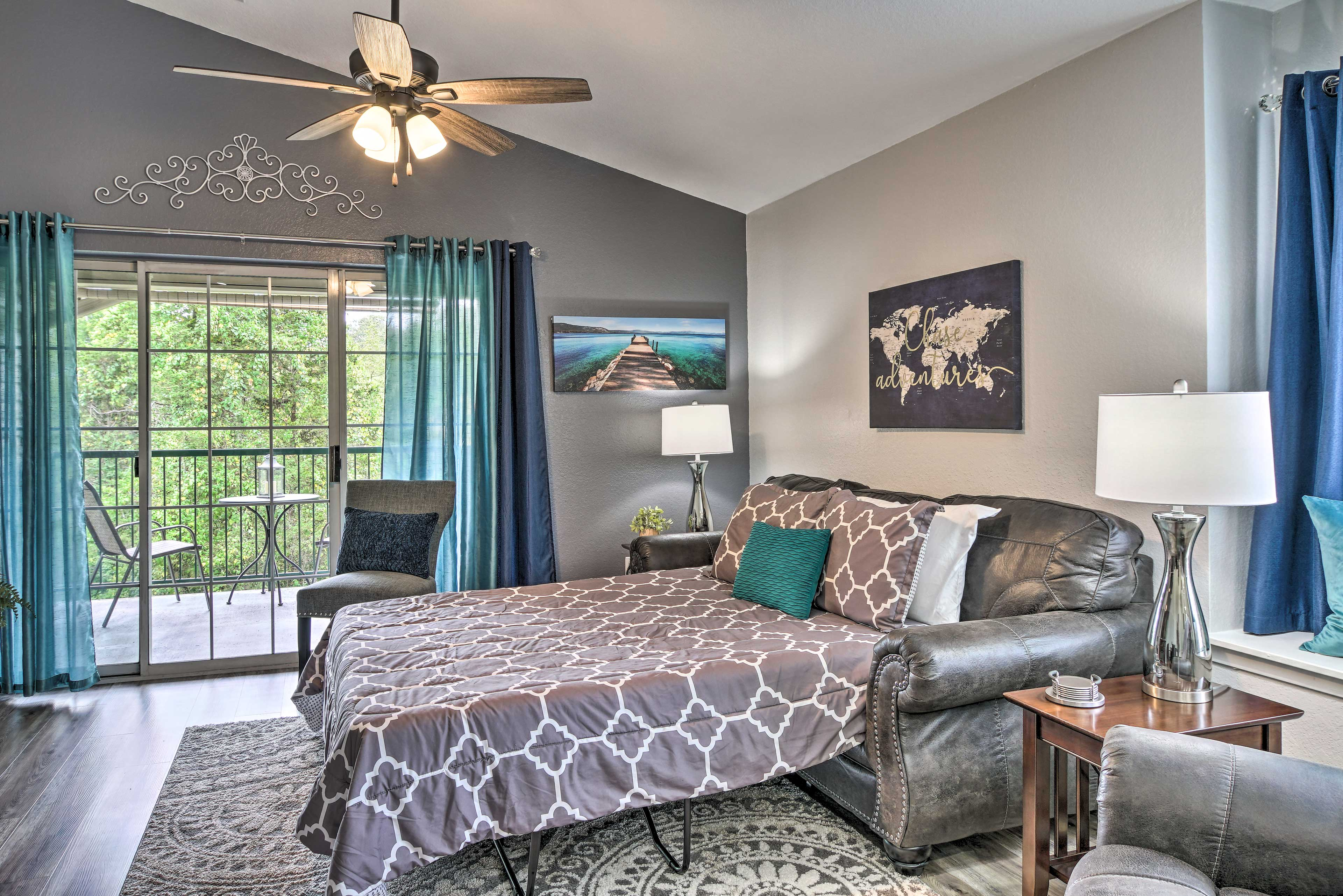 Living Room | Sleeper Sofa | Natural Lighting