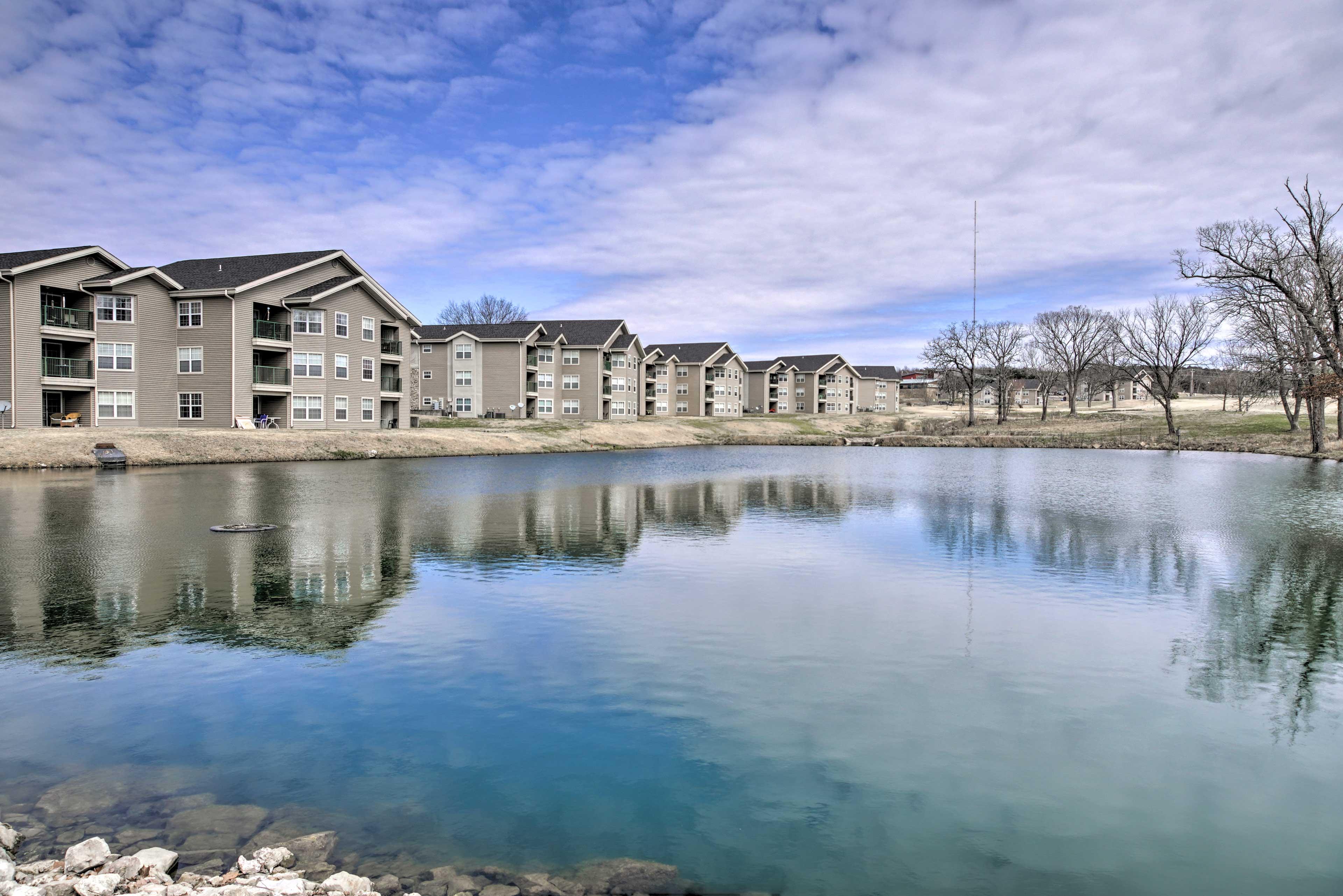 Condo Exterior | Catch and Release Pond