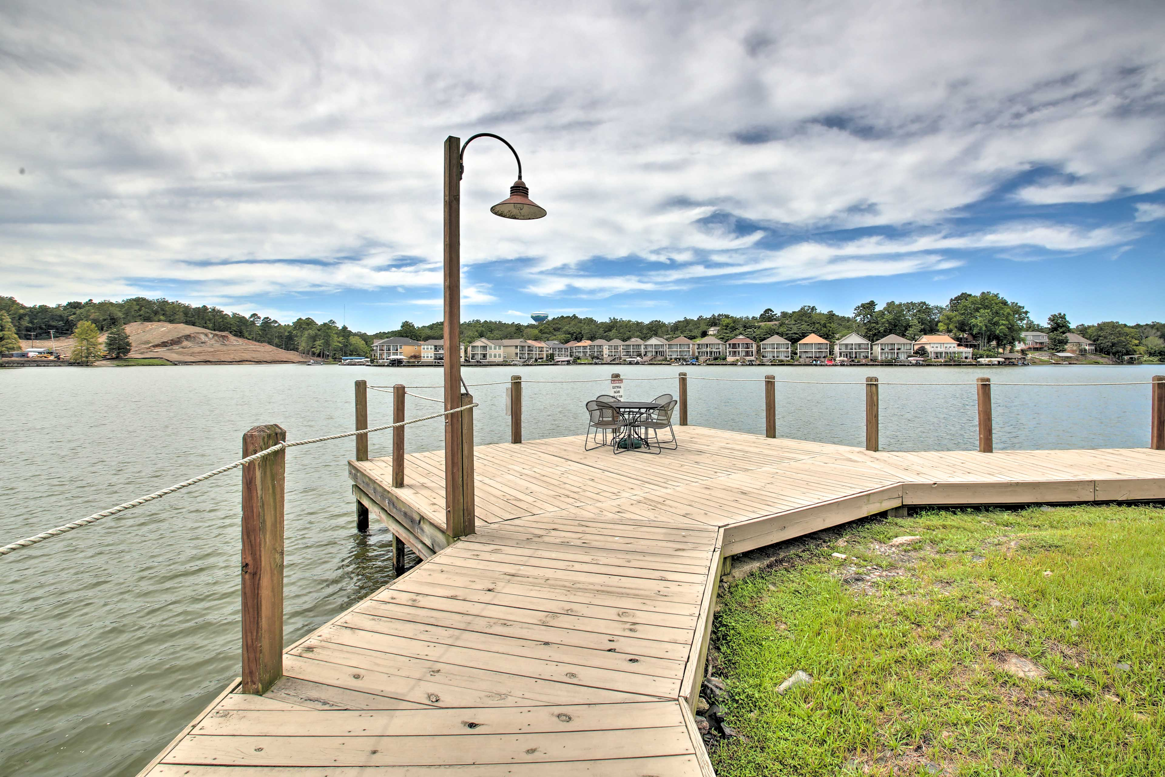 Sit out on the dock listening to the water or rent a boat to explore!