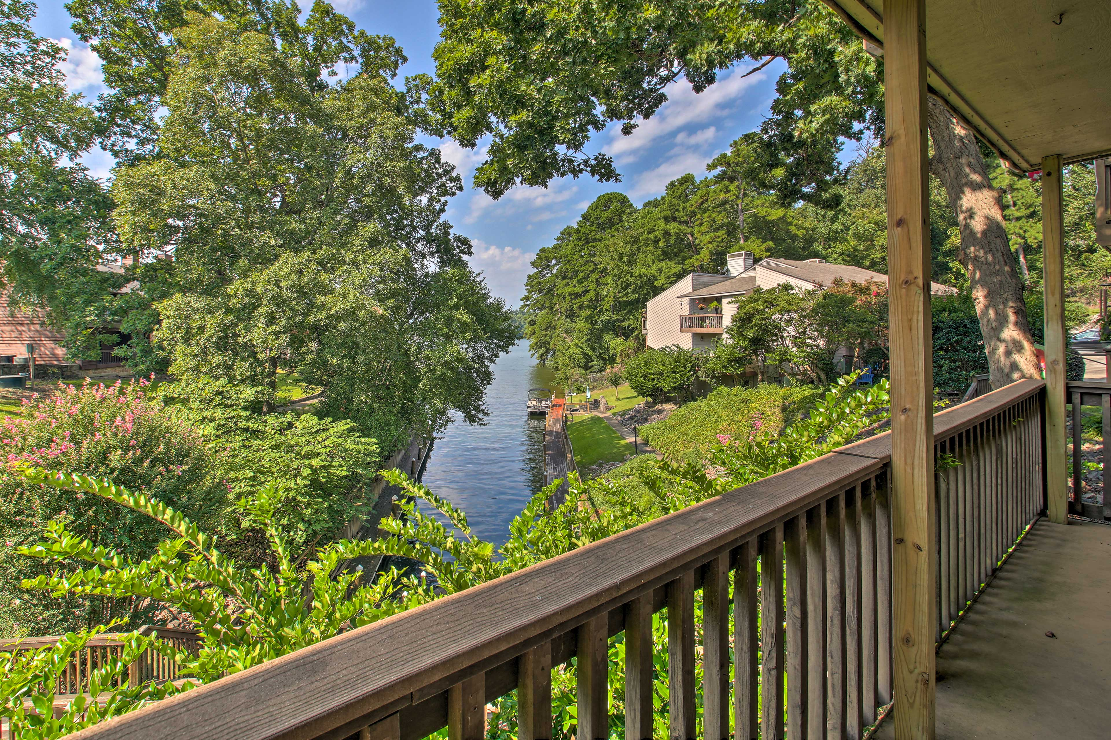 Sip your coffee while you lean against the banister and take in the view.