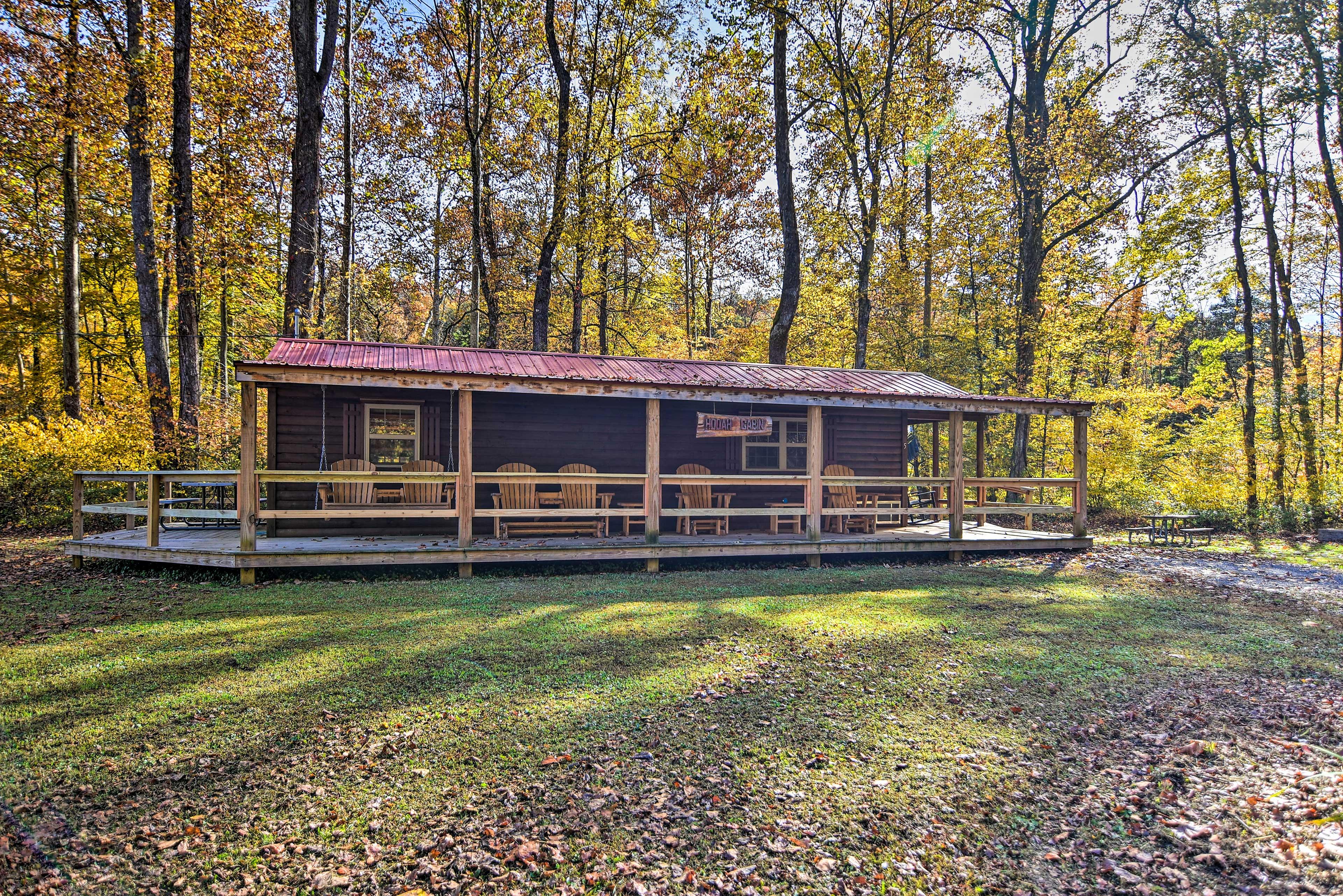 Cabin Exterior | Furnished Wraparound Porch
