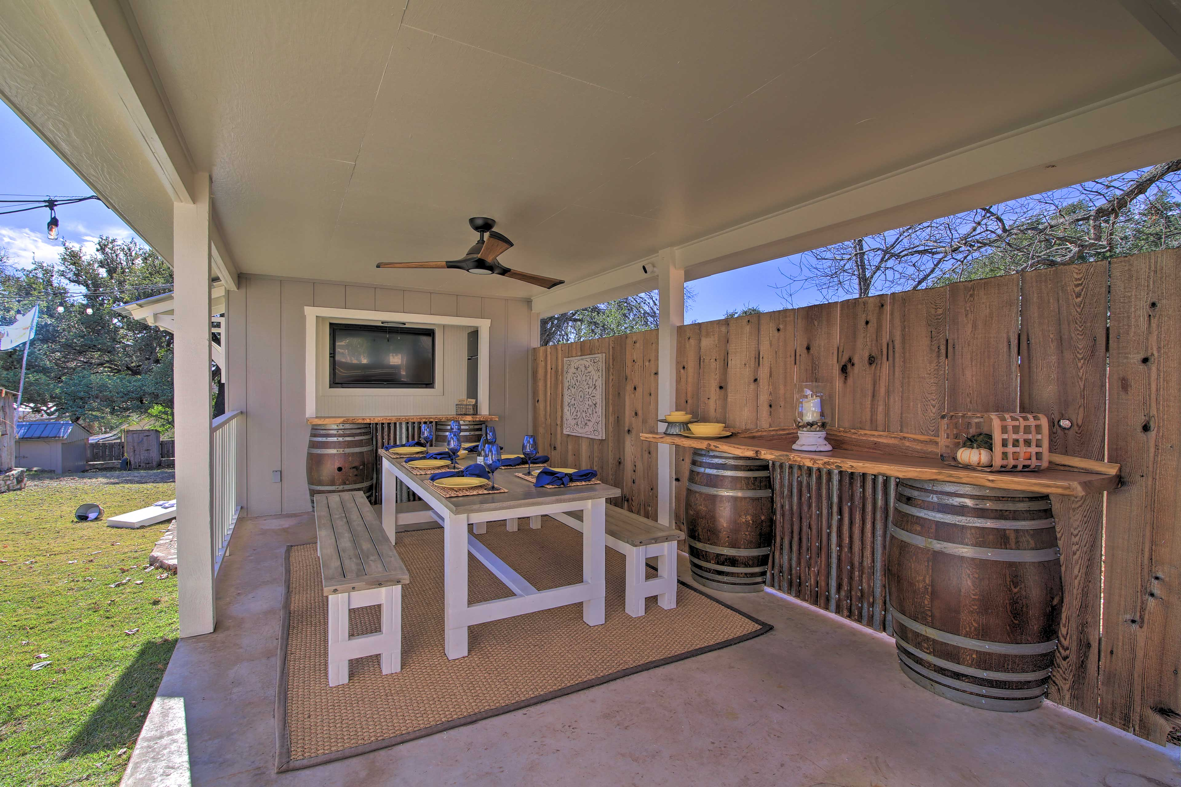 Covered Deck | Outdoor Dining | Outdoor Refrigerator