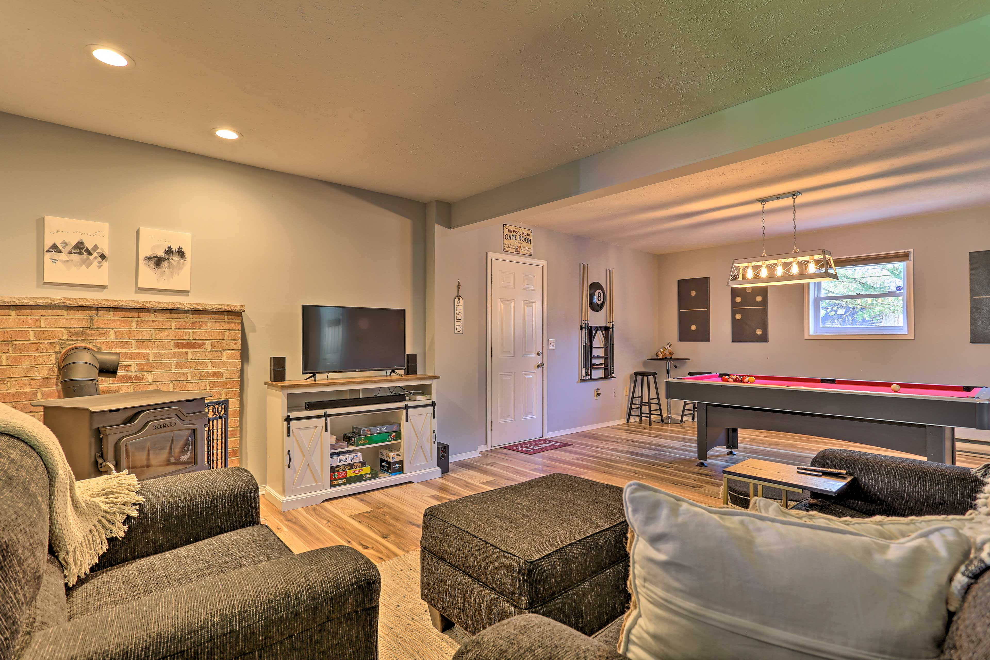 Game Room | 1st Floor | Wood-Burning Stove