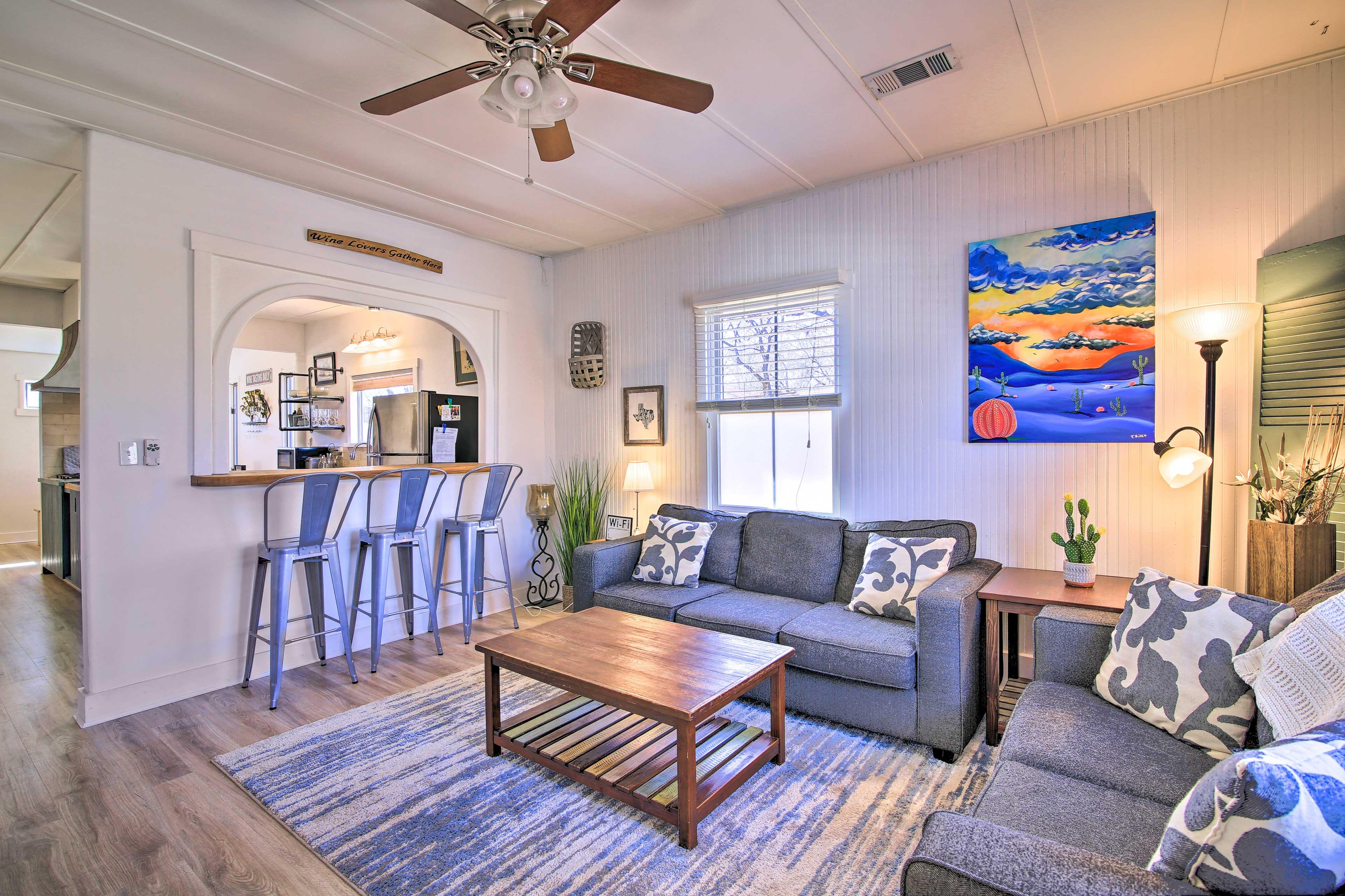 Fredericksburg Vacation Rental | 2BR | 1BA | 1,147 Sq Ft | Single Story