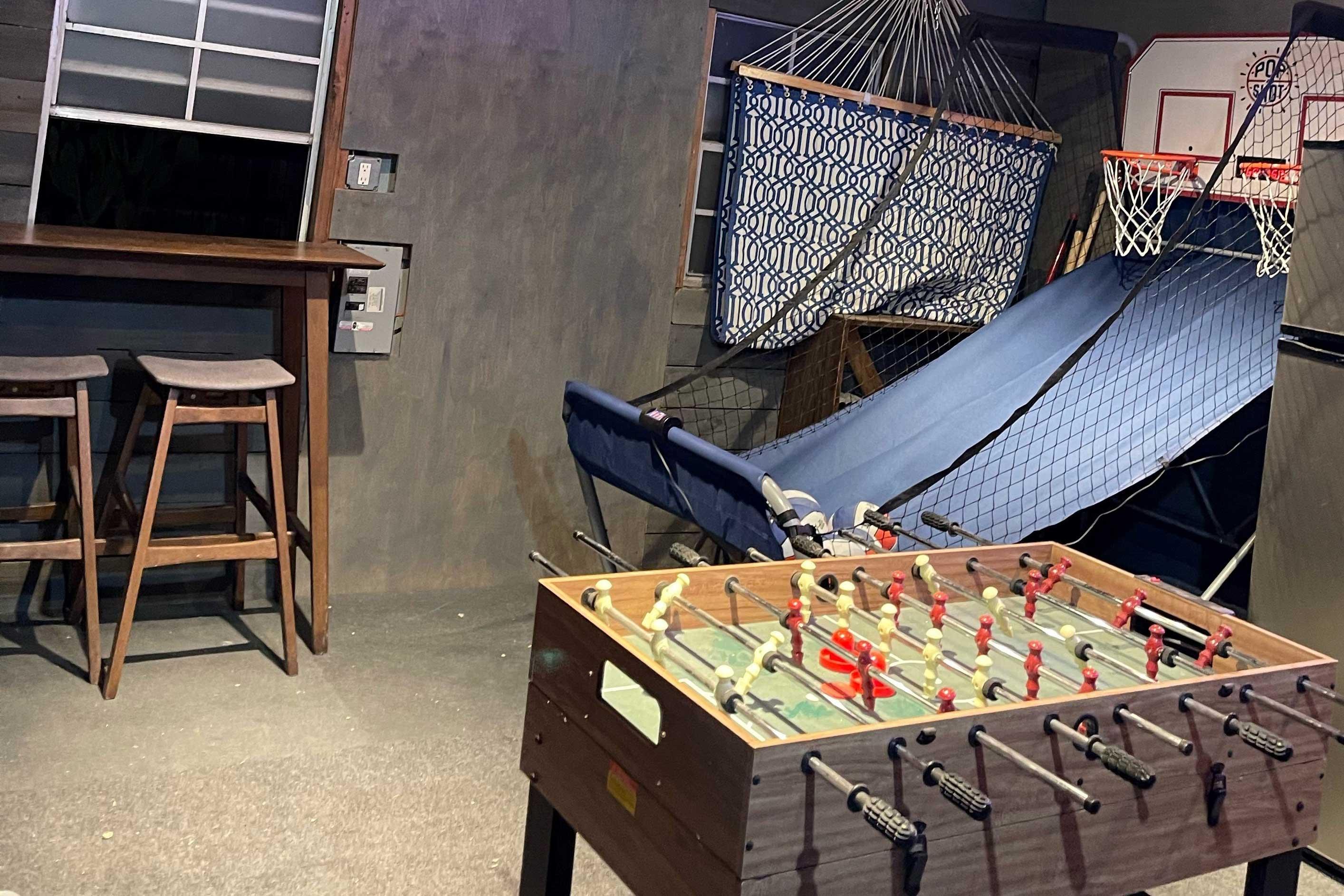 Private Bar | Foosball | Basketball Game | High-Top Bar