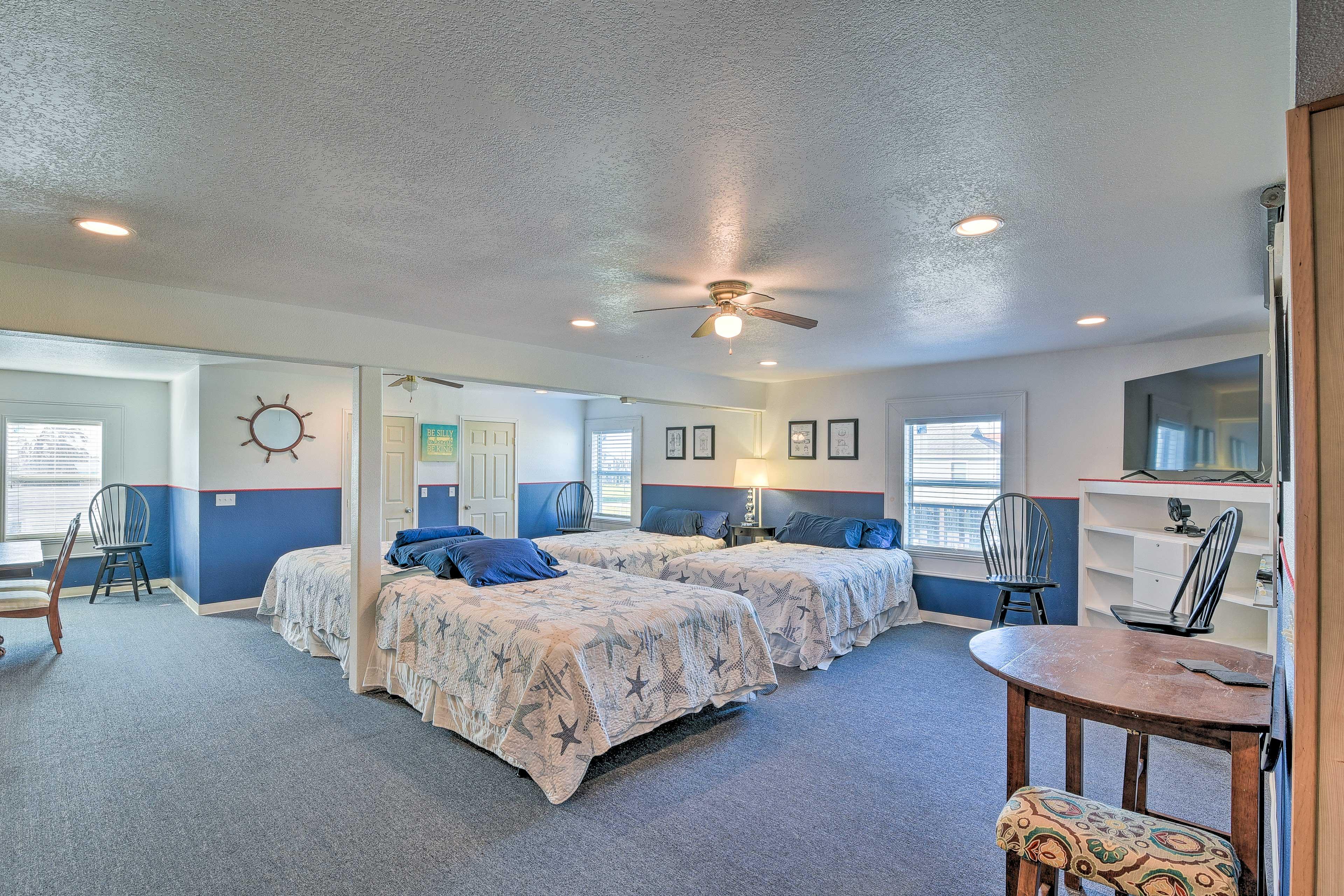 Bedroom 1 & Main Living Area | 4 Queen Beds