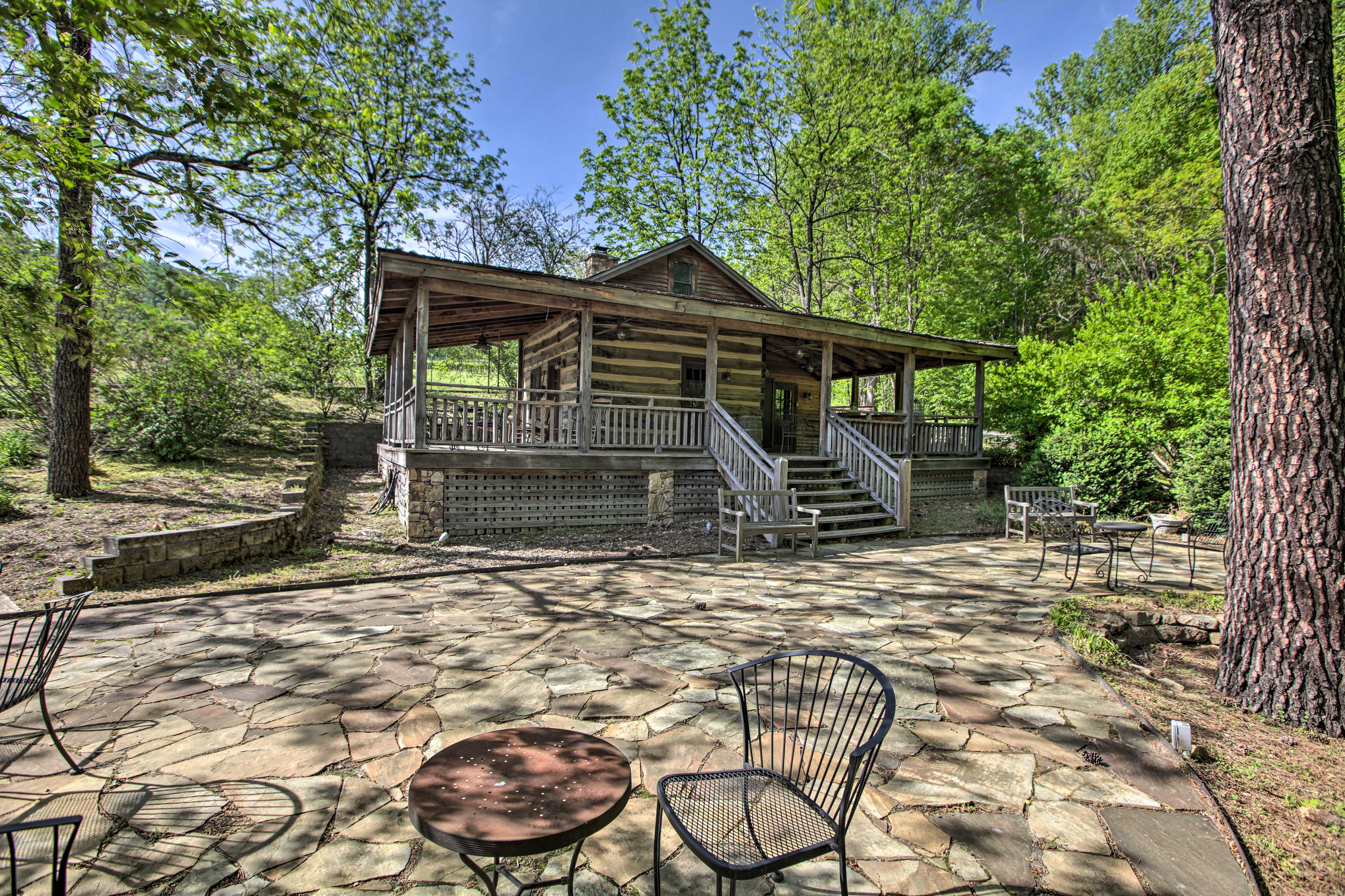 Cabin Exterior | On-Site Vineyard | Stairs Required for Access