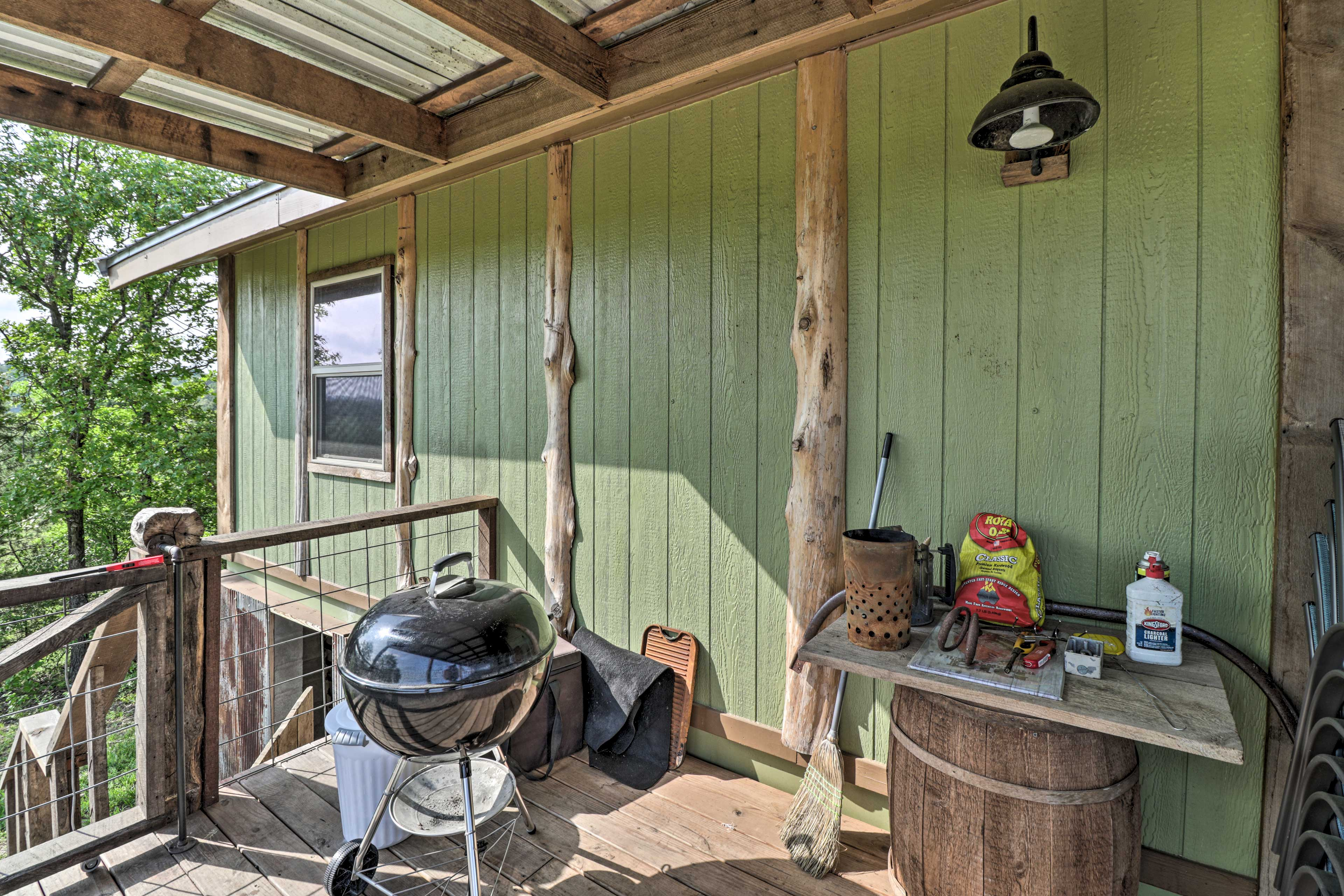 Covered Deck | Charcoal Grill