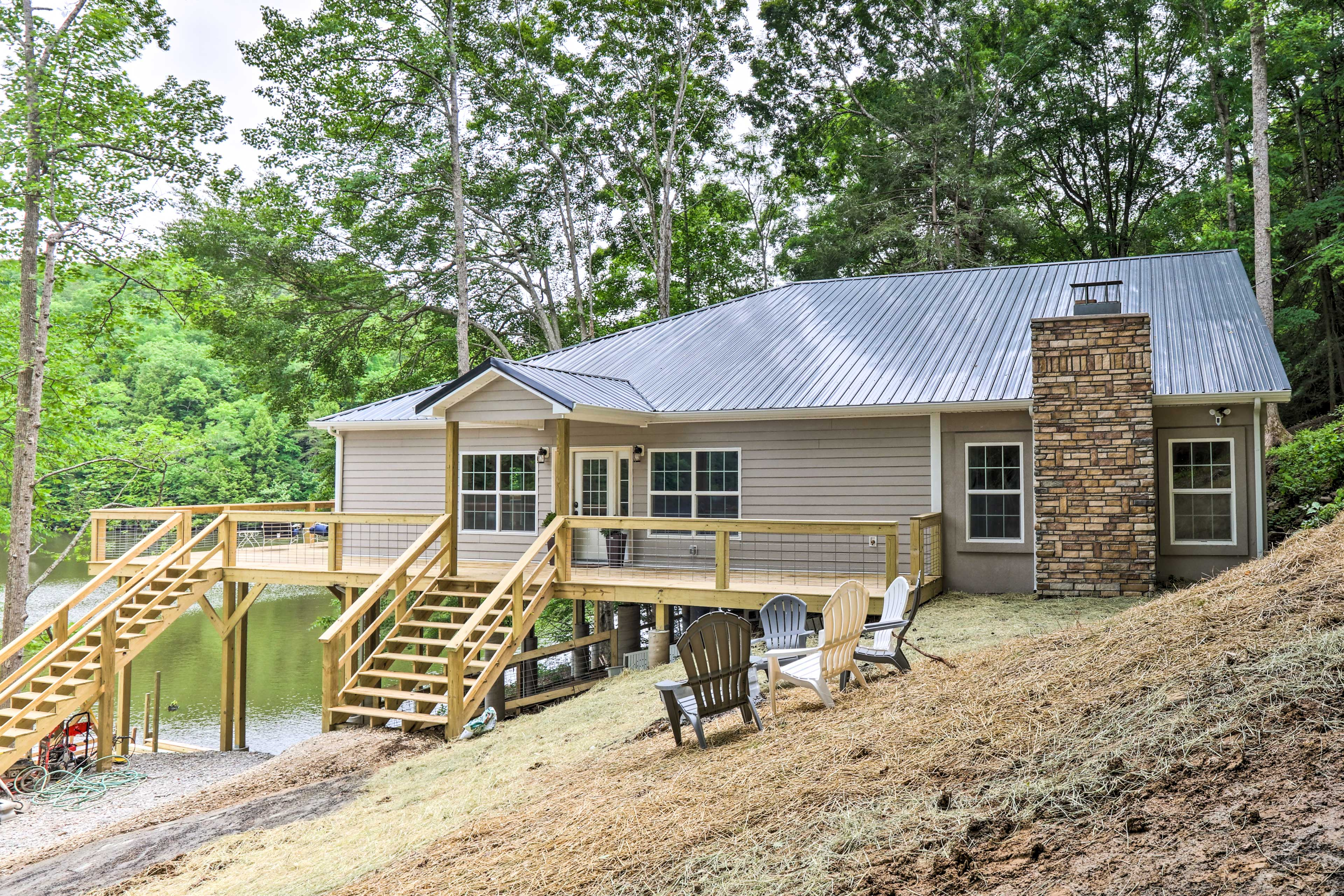 Home Exterior | Stairs Required for Access | Direct Lake Access
