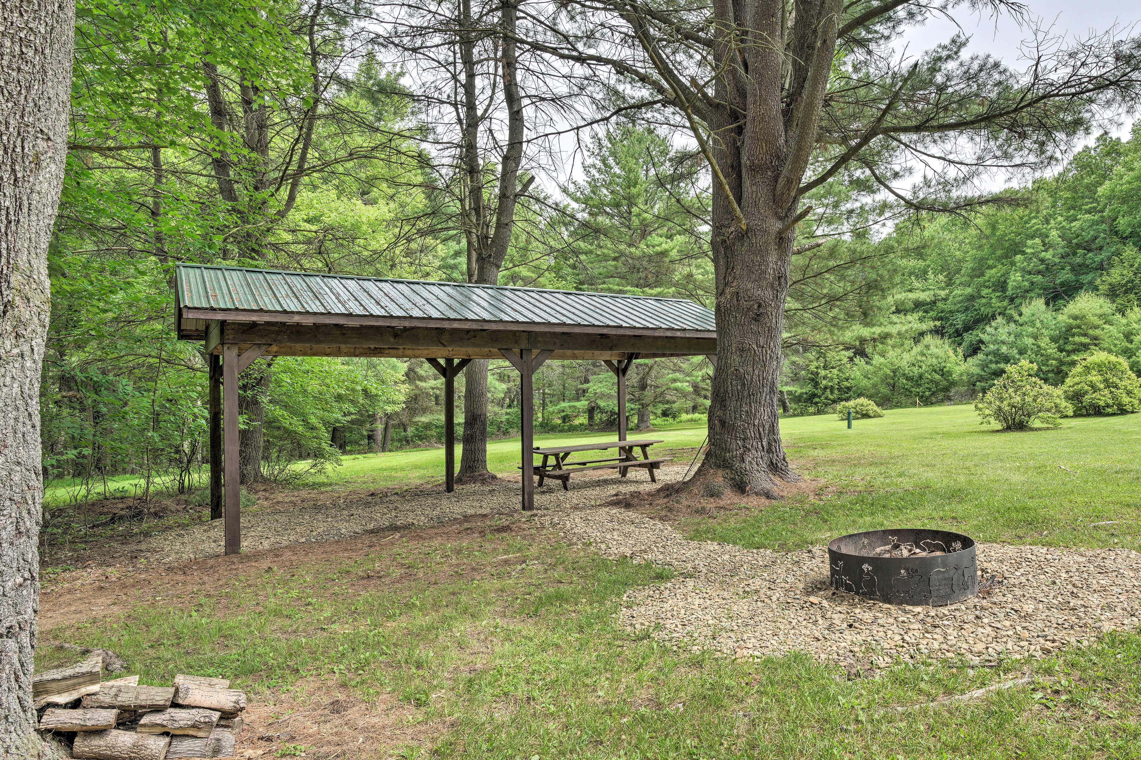 Exterior Space | Fire Pit | Covered Picnic Table