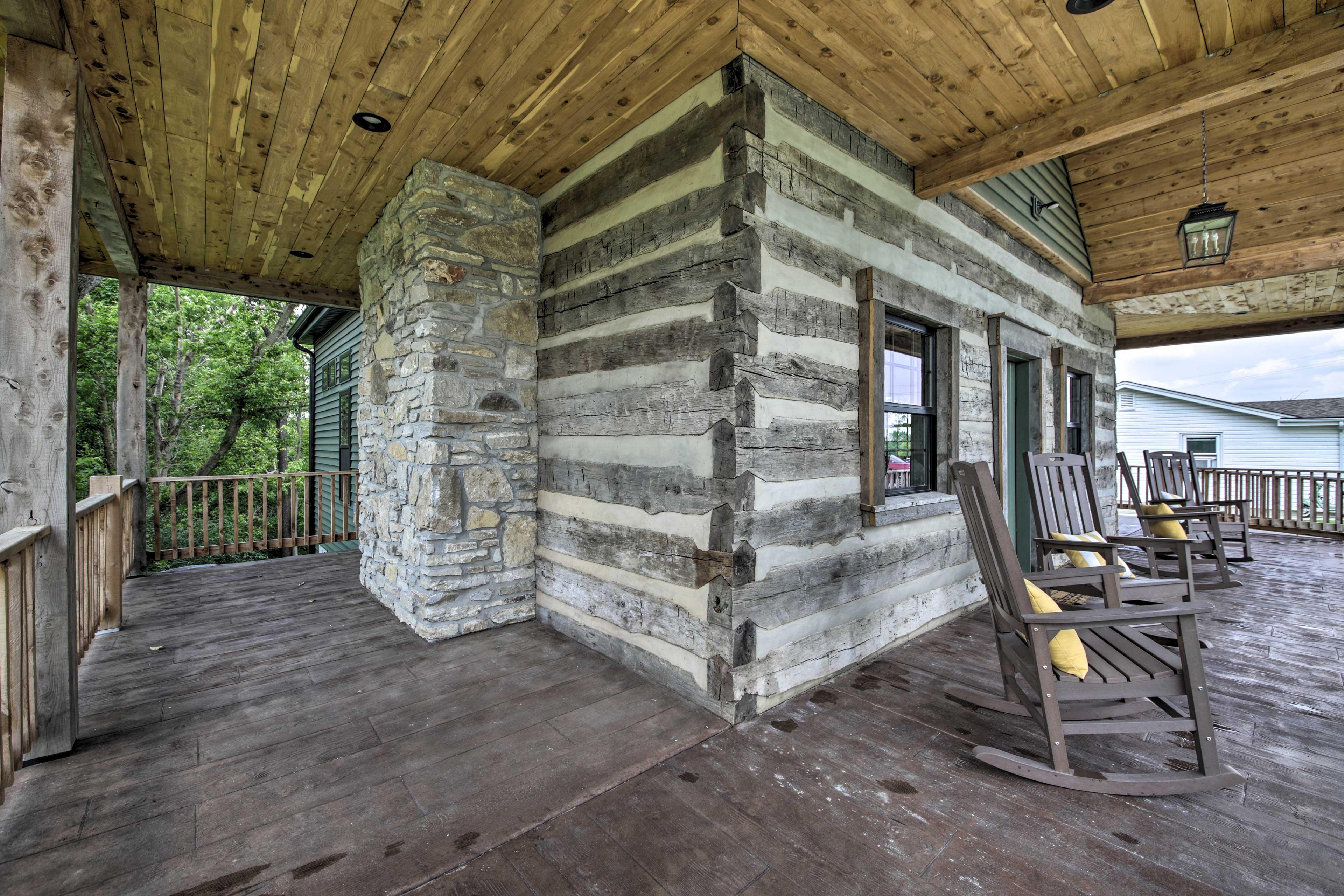 Wraparound Deck   Rocking Chairs