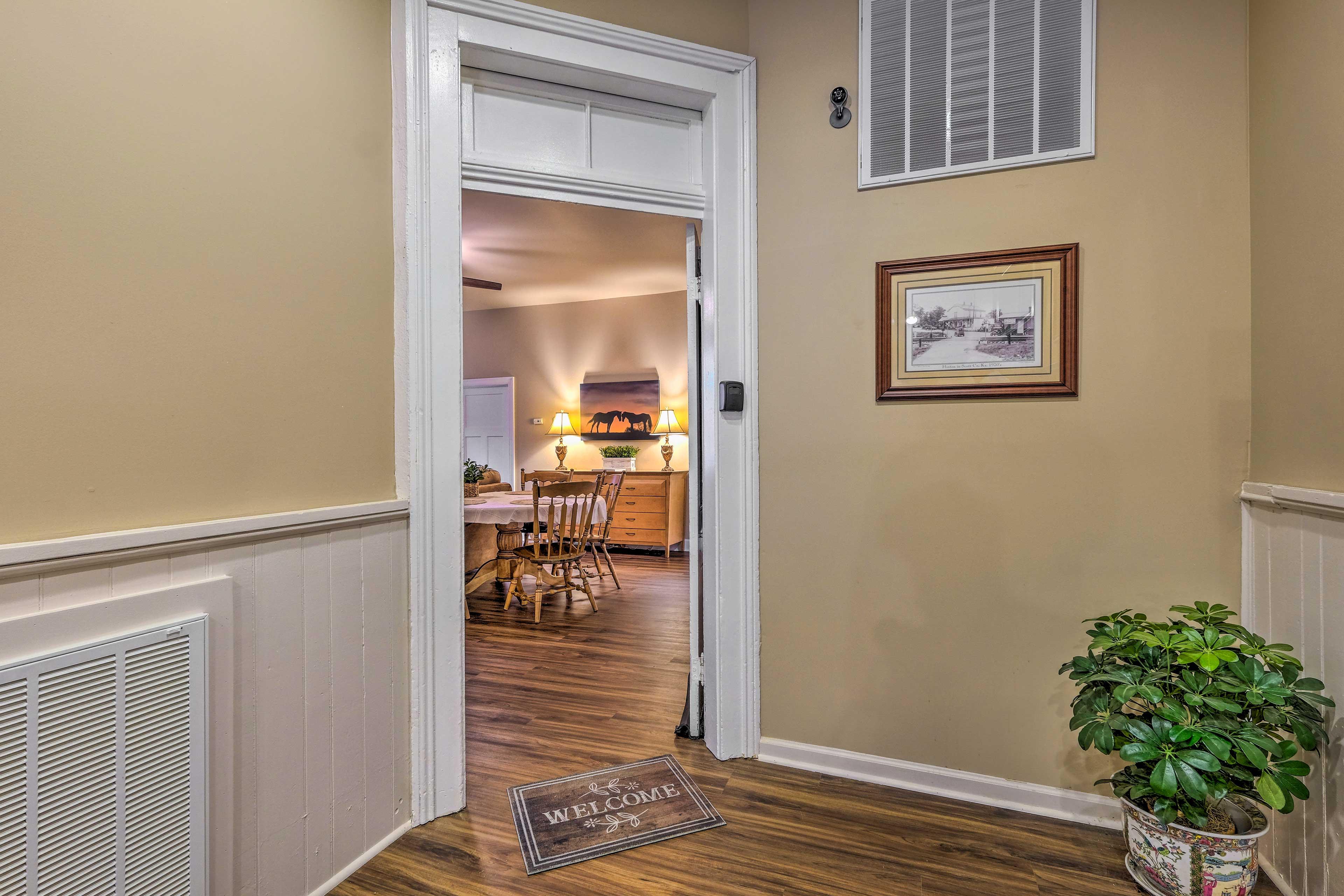 Apartment Entrance | Central A/C