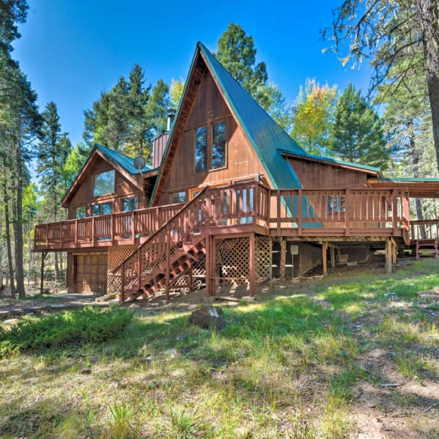 A-Frame vacation rental cabin in Angel Fire, New Mexico