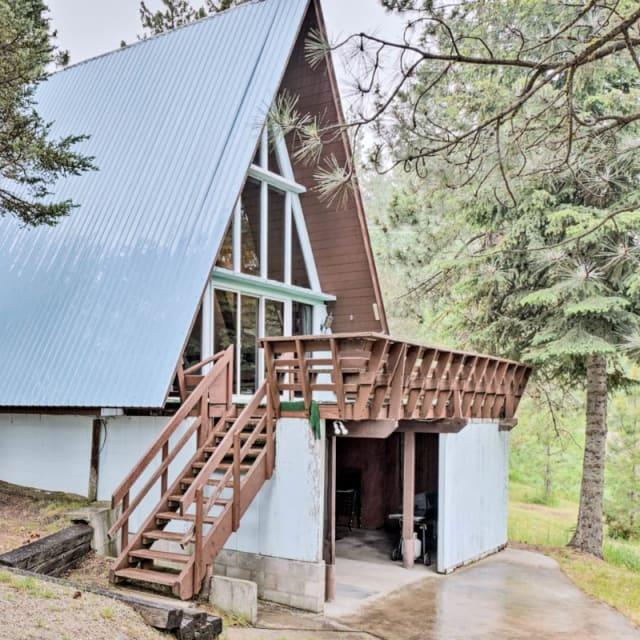 A-Frame vacation rental cabin in Cascade, Idaho