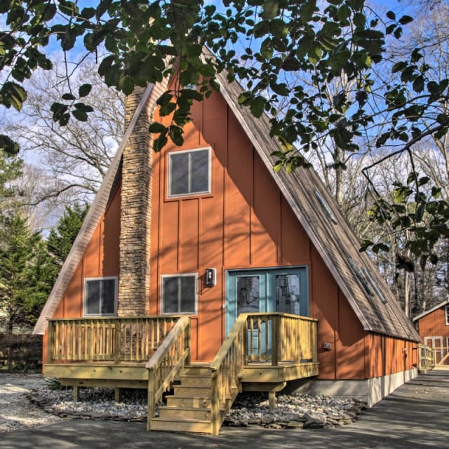 A-Frame vacation rental cabin in Georgetown, Delaware