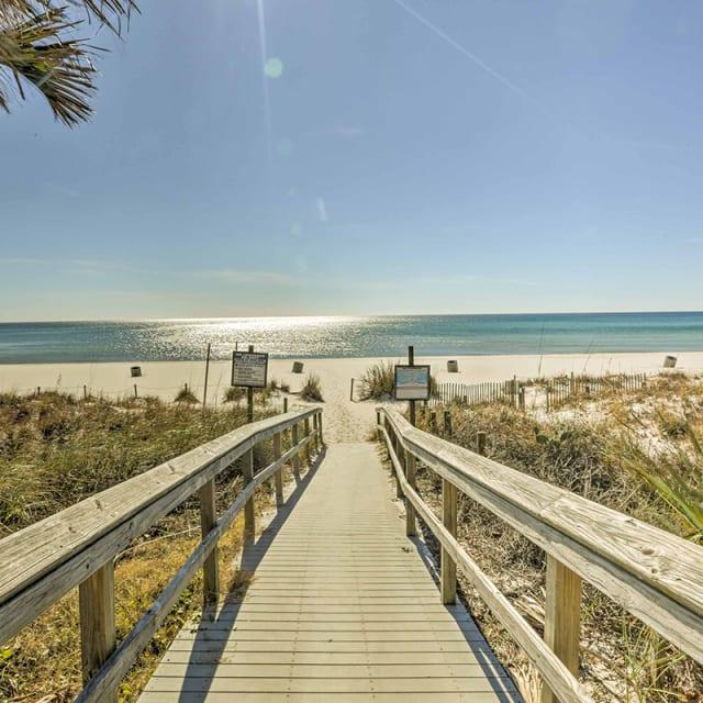 Walkway leading to the beach in Panama City Beach, Florida